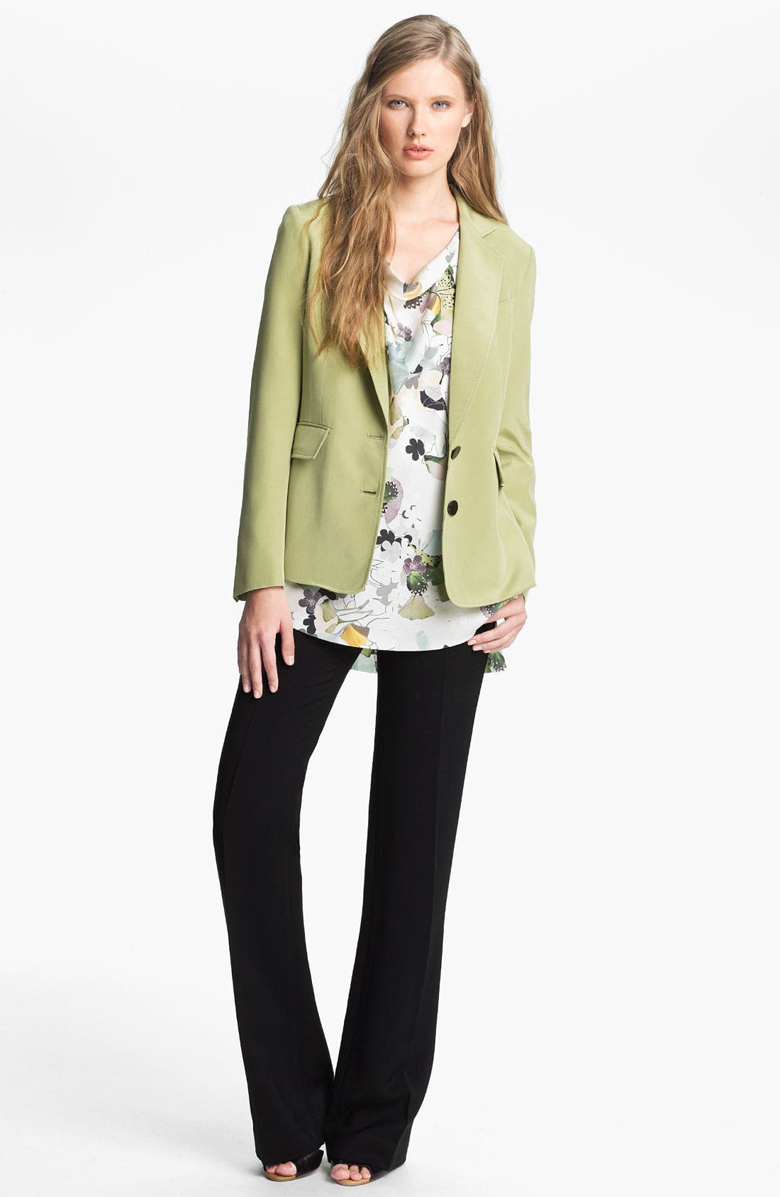 Alternate Image 1 Selected - 3.1 Phillip Lim Two Button Silk Blazer