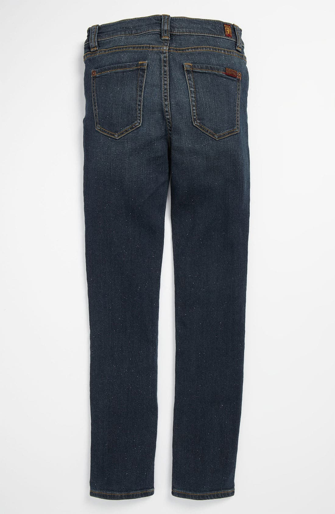 Main Image - 7 For All Mankind® Sparkle Stretch Skinny Leg Jeans (Big Girls)