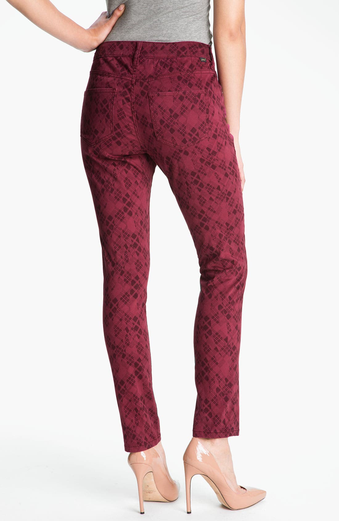 Alternate Image 2  - Jag Jeans 'Chloe - Kingston Plaid' Skinny Jeans (Petite) (Online Exclusive)
