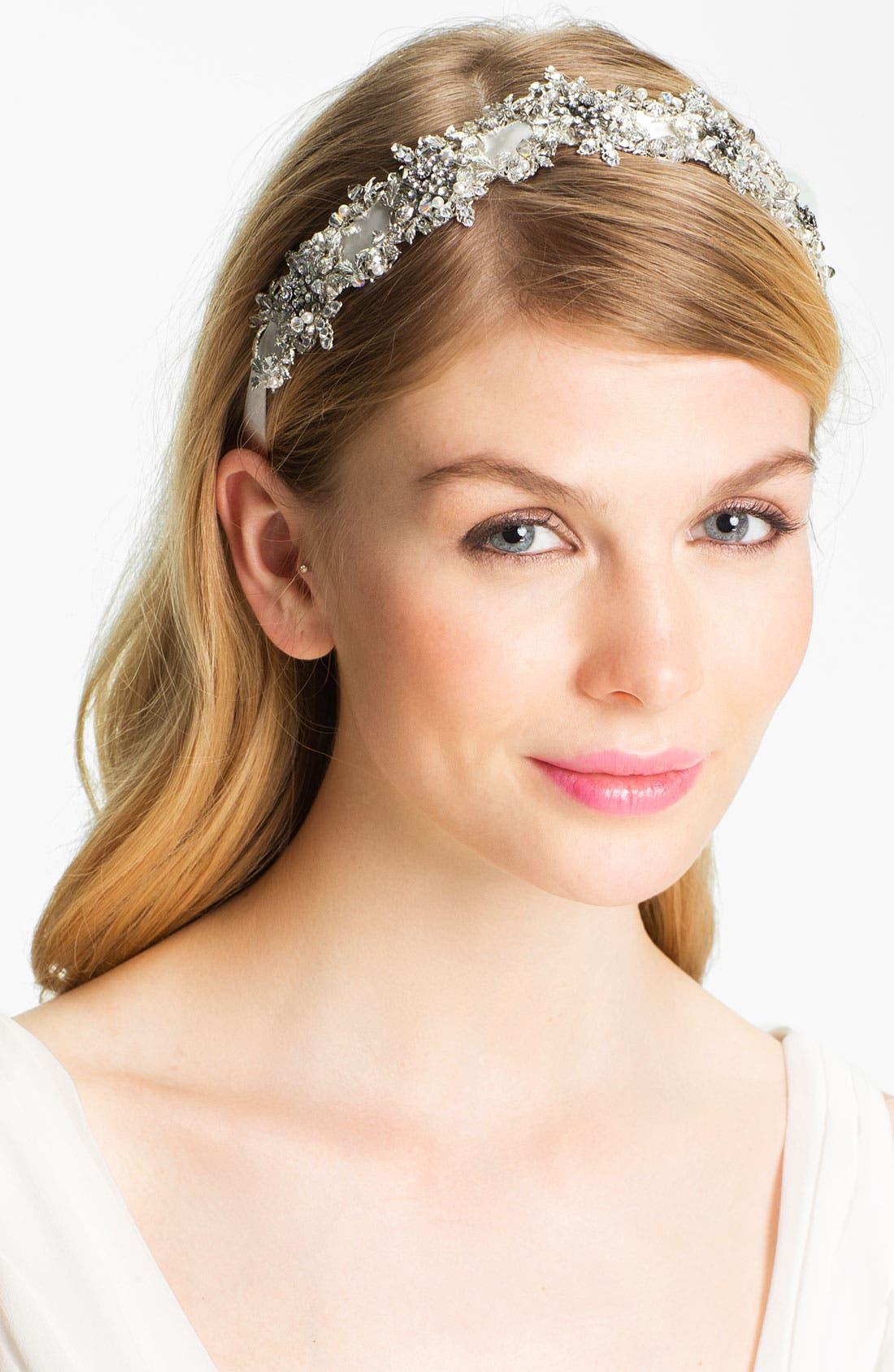 Alternate Image 1 Selected - Halo & Co 'My Fairy Lady' Crystal Ribbon Headband