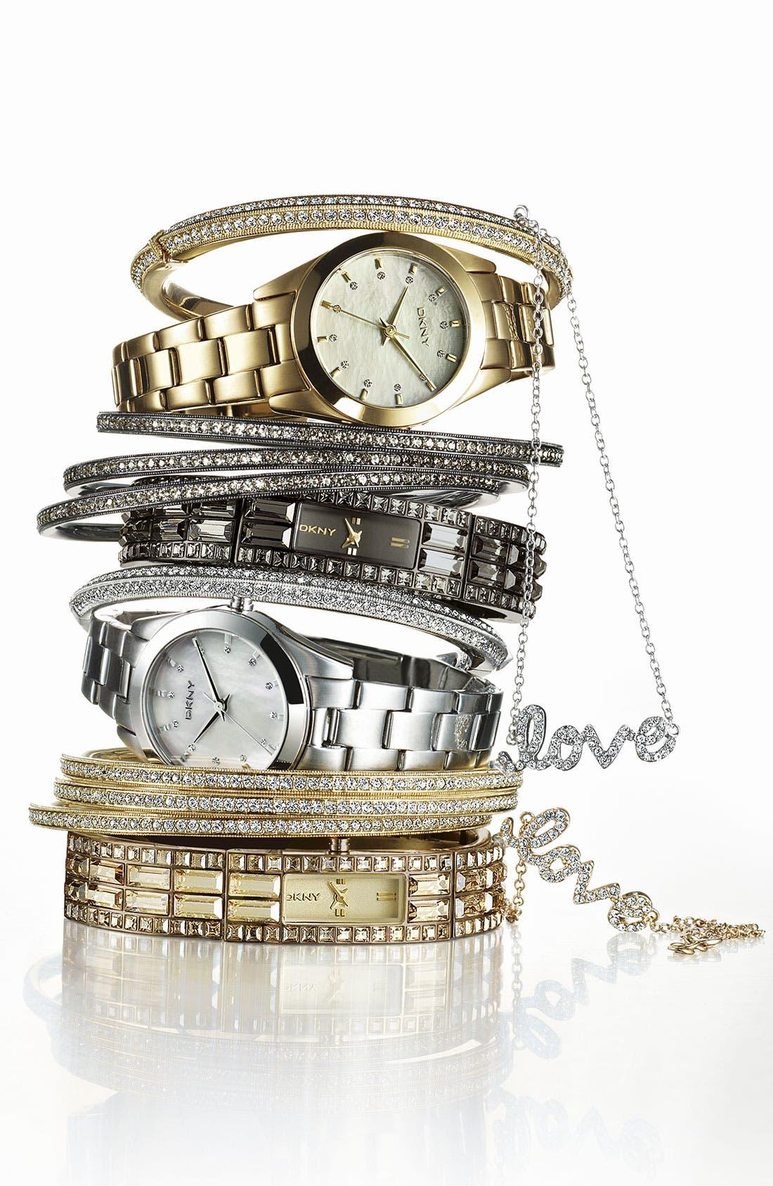 Alternate Image 4  - DKNY Round Bracelet Watch