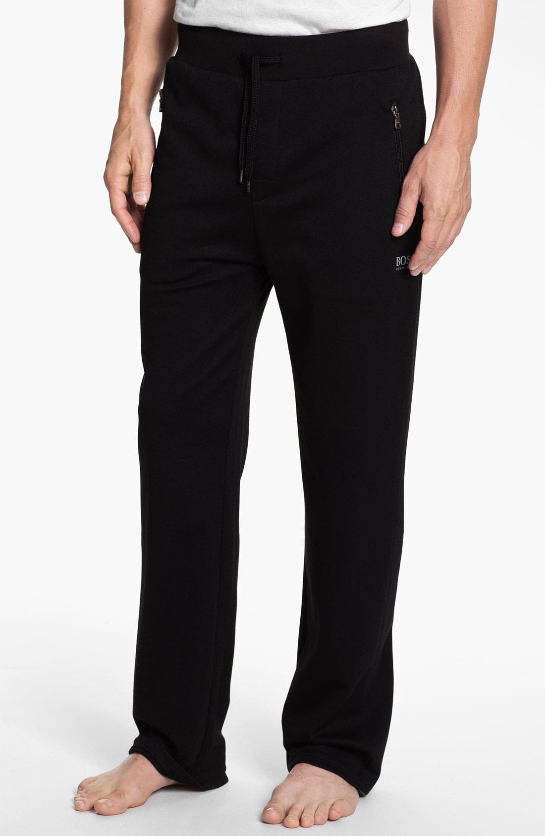 Alternate Image 1 Selected - BOSS Black Cotton Blend Lounge Pants