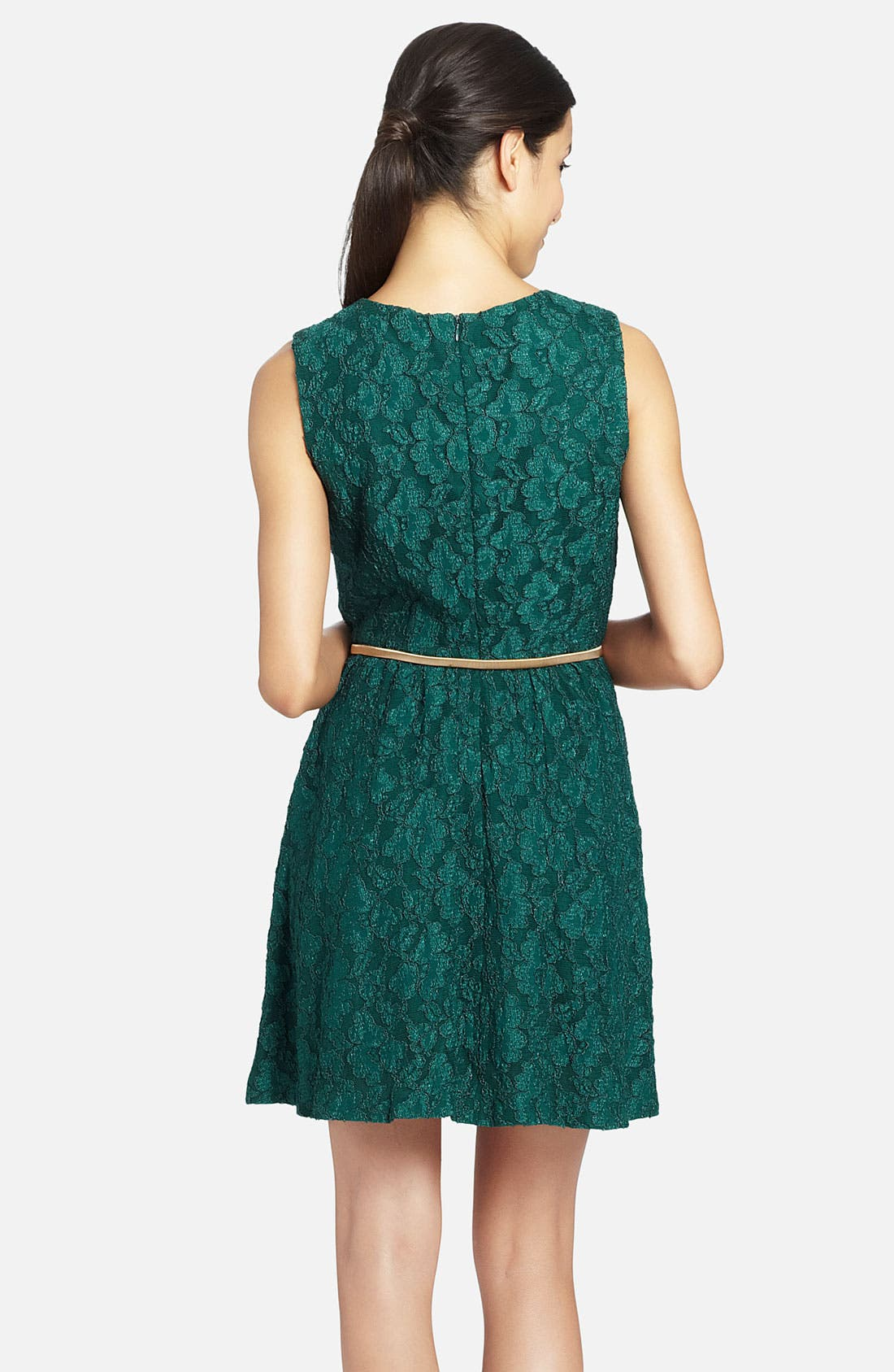 Alternate Image 2  - Cynthia Steffe 'Davine' Sleeveless Belted Lace Dress