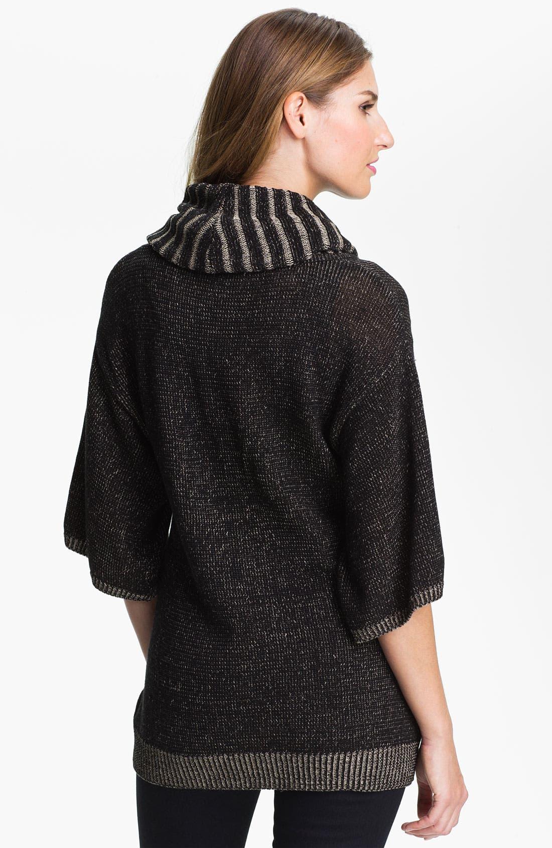 Alternate Image 2  - Fever Cowl Neck Three Quarter Sleeve Sweater (Online Exclusive)