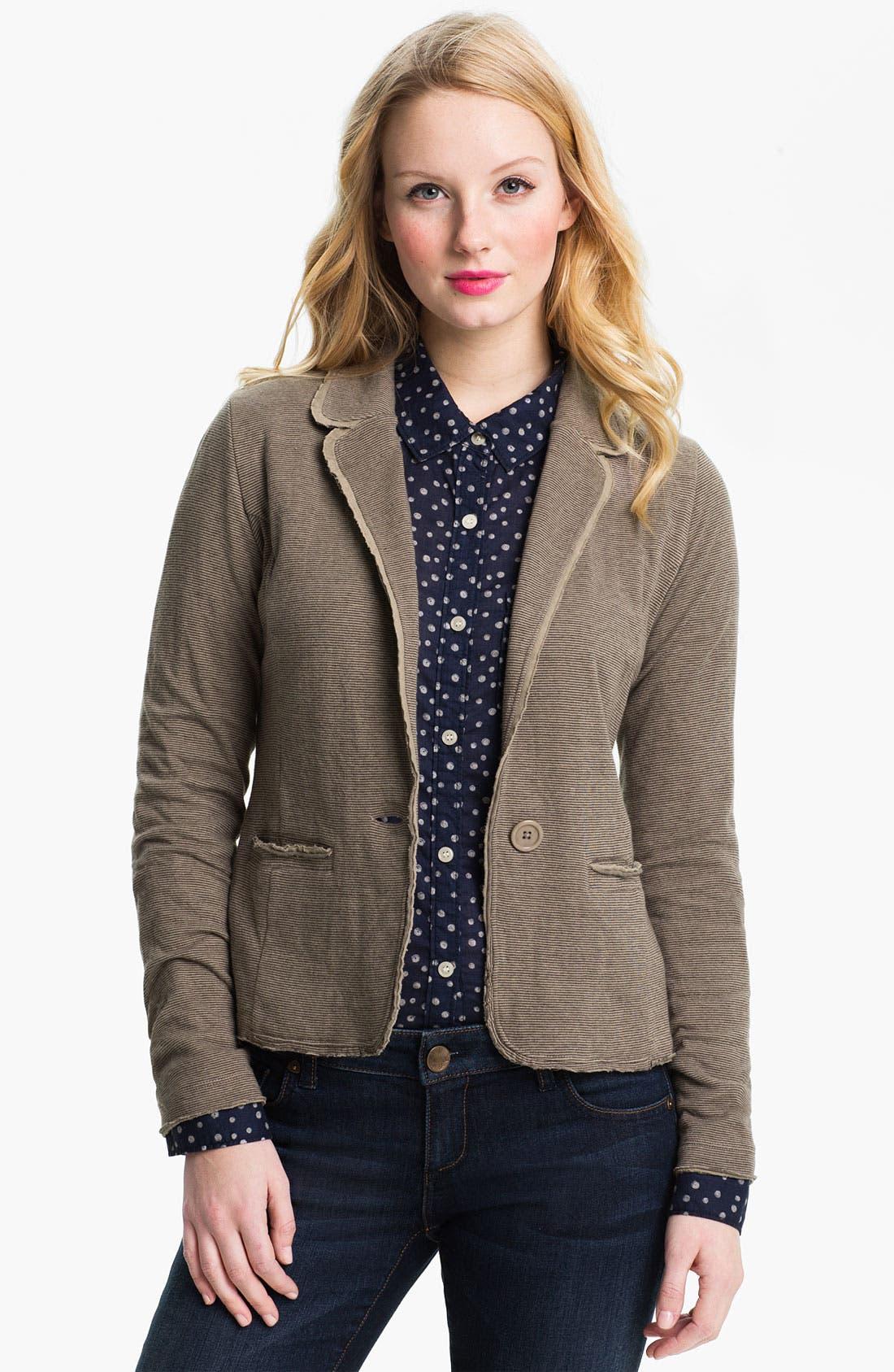 Alternate Image 1 Selected - Caslon® Long Sleeve Double Knit Blazer