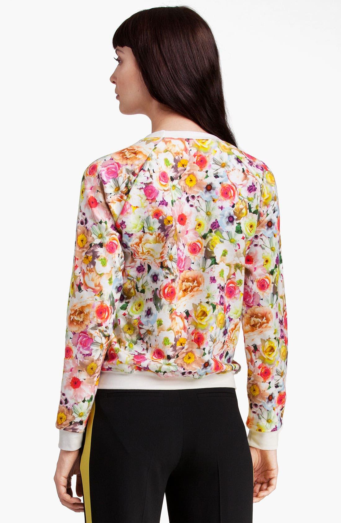 Alternate Image 2  - MSGM Floral Print Sweatshirt