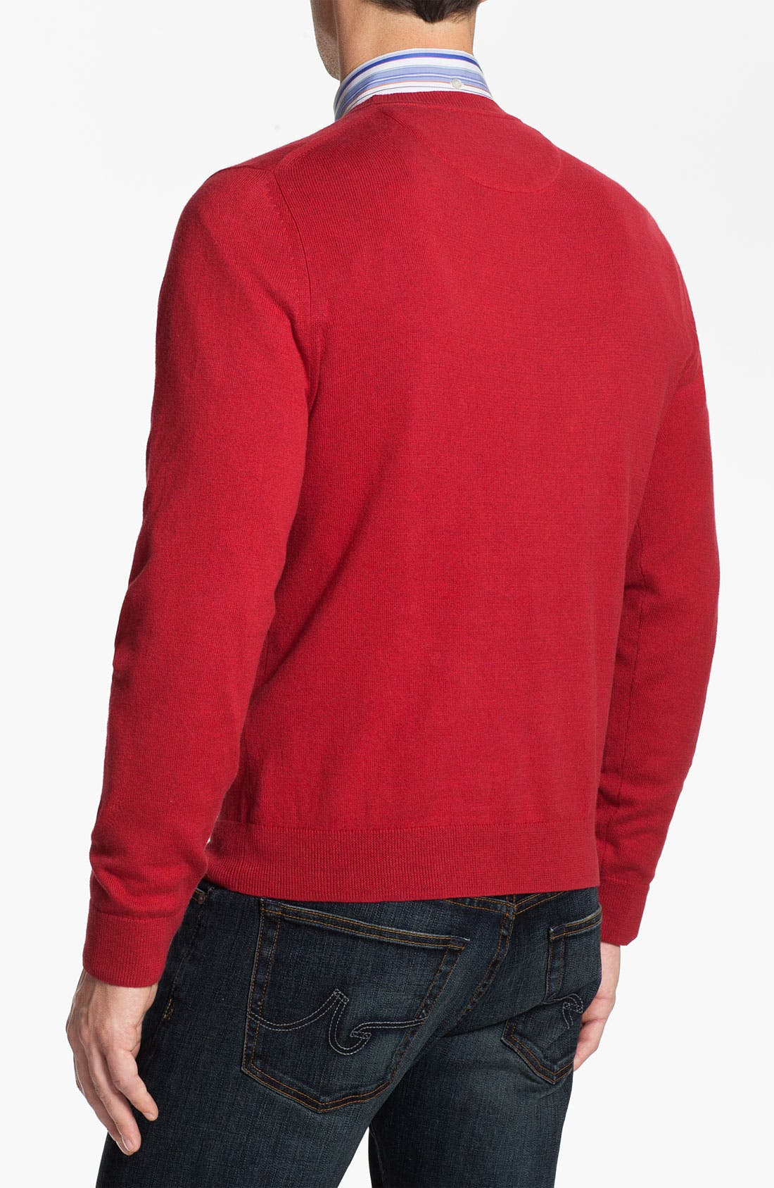 Alternate Image 2  - Nordstrom Cotton & Cashmere Sweater