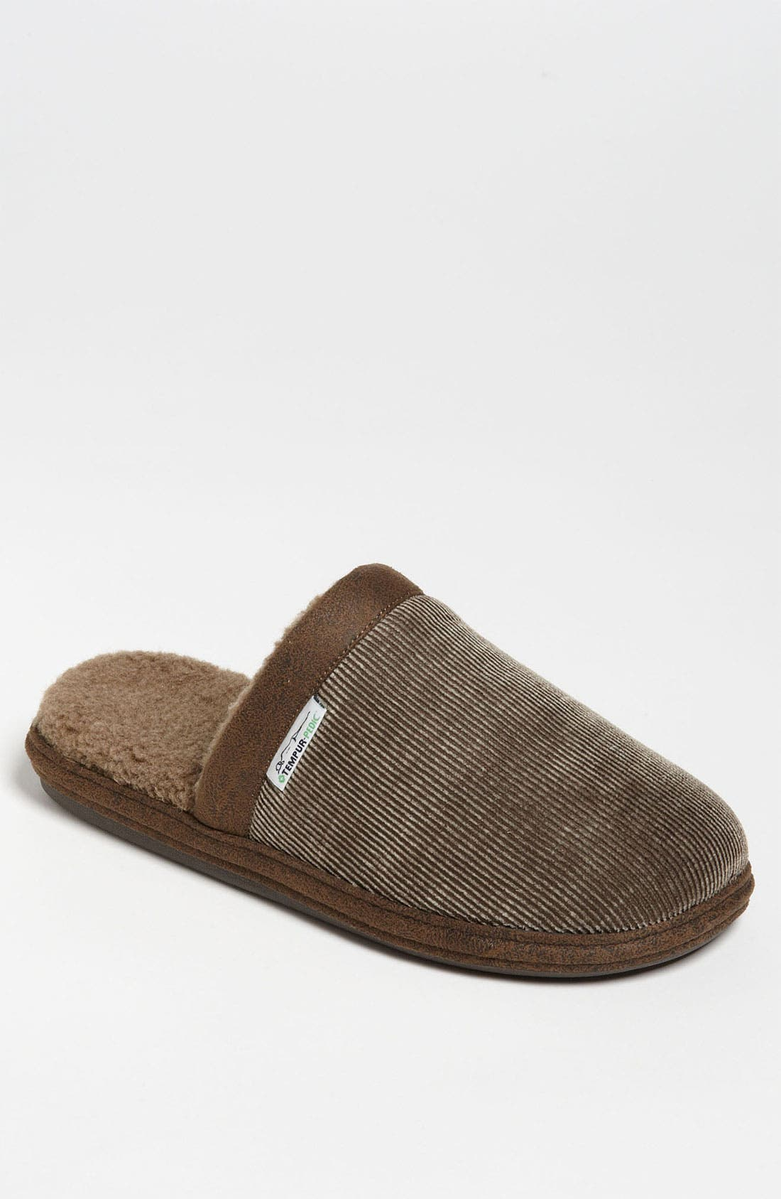 Alternate Image 1 Selected - Tempur-Pedic® 'Corduroy Scuff' Slipper