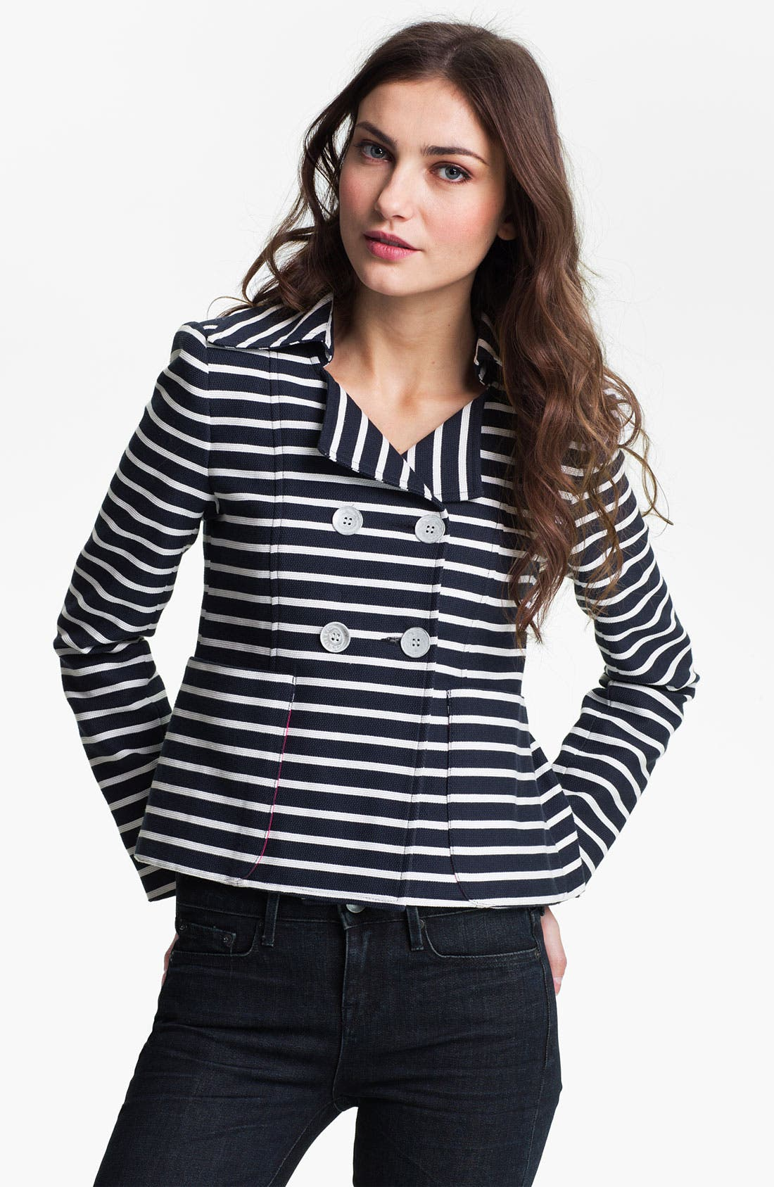 Alternate Image 1 Selected - Nanette Lepore 'Whaam' Stripe Jacket