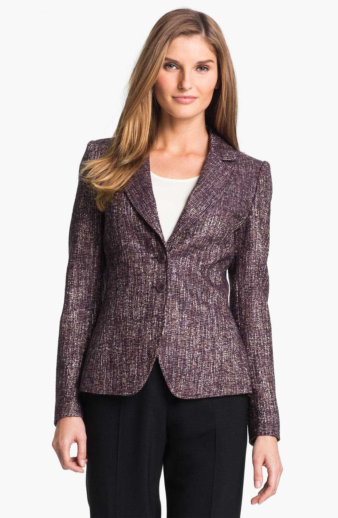 Alternate Image 1 Selected - Santorelli 'Kristina 1' Tweed Jacket