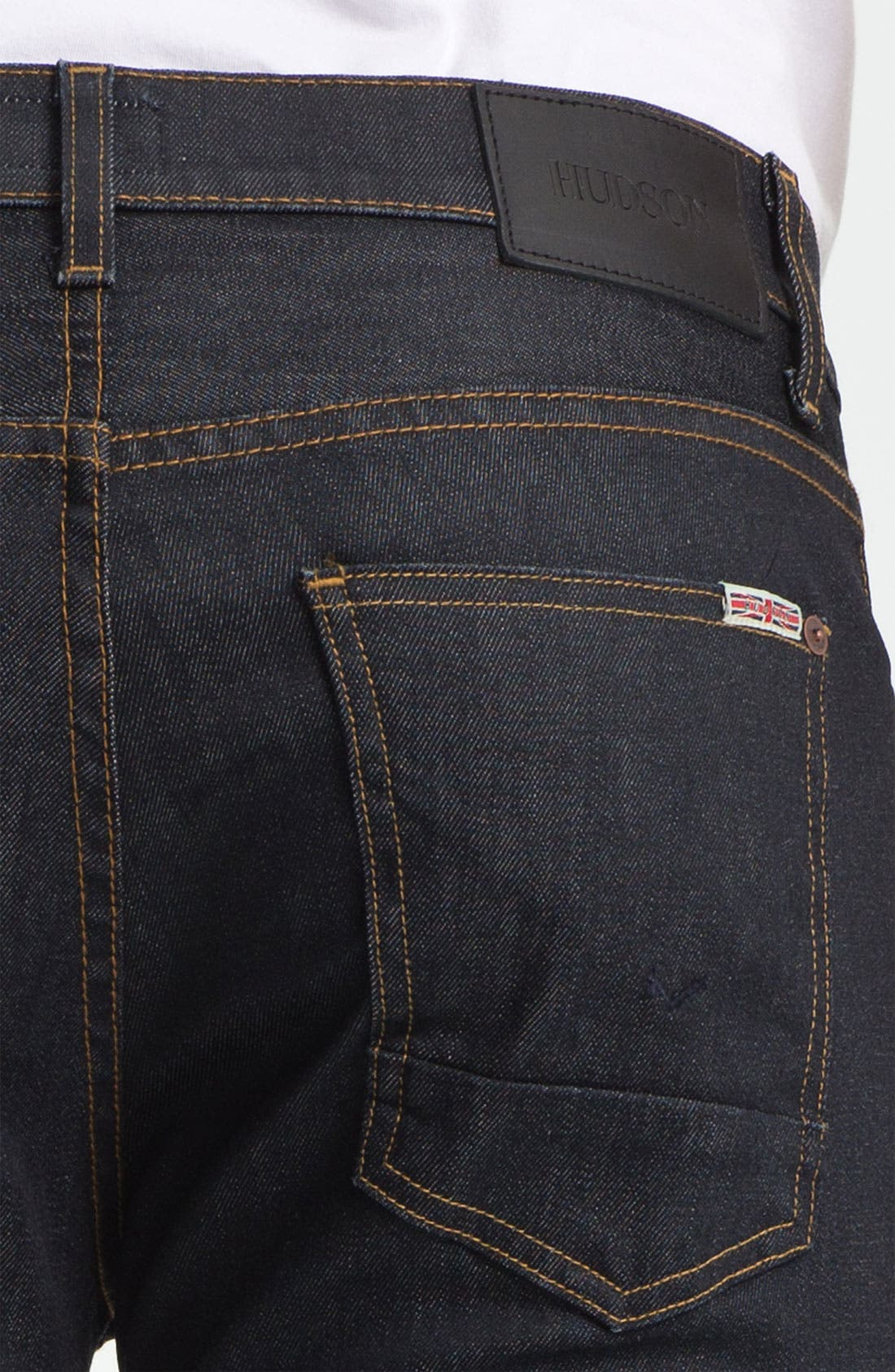Alternate Image 4  - Hudson Jeans 'Sartor' Skinny Fit Jeans (Edges)