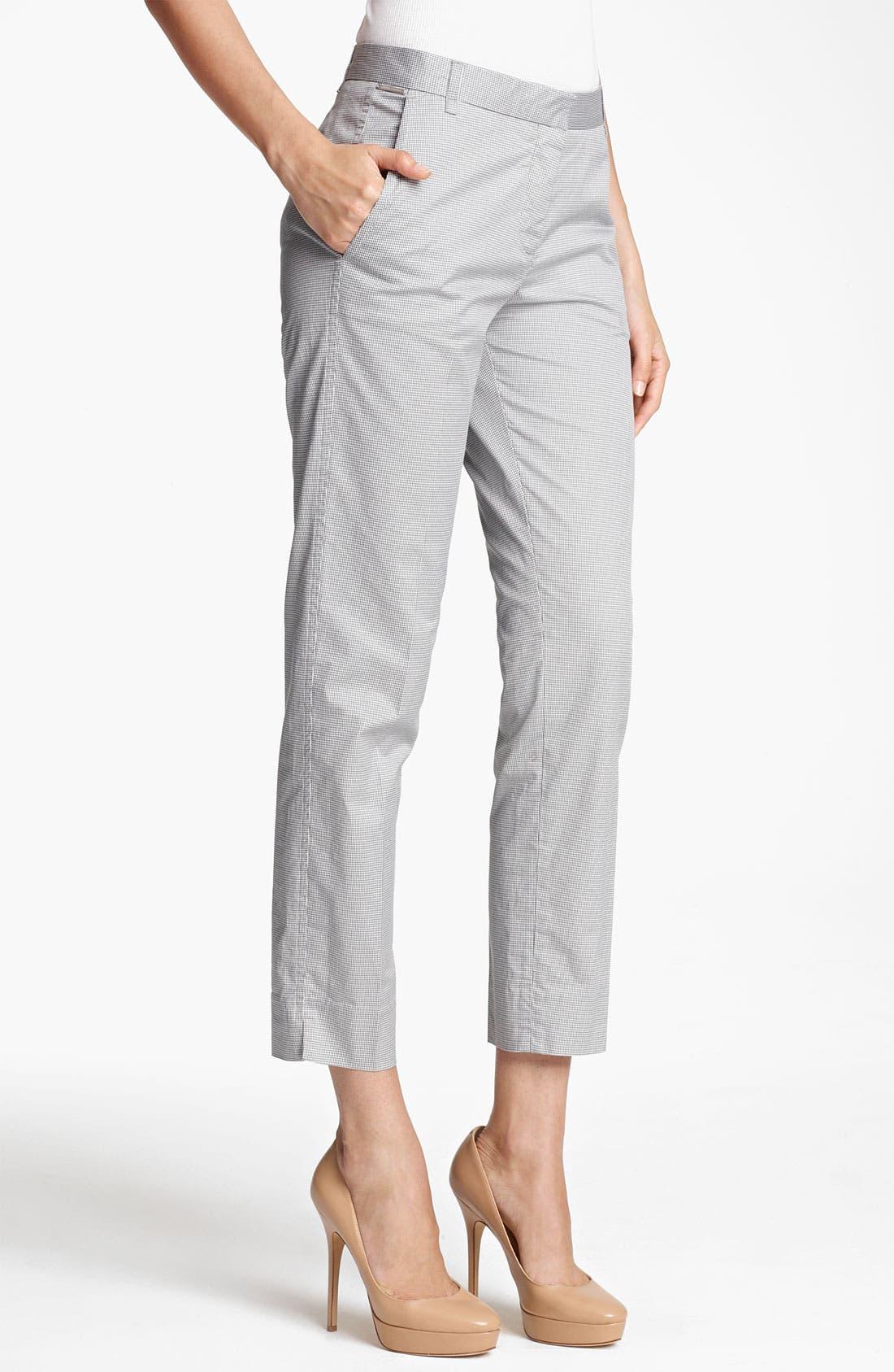 Alternate Image 1 Selected - Fabiana Filippi Cotton Vichy Crop Pants