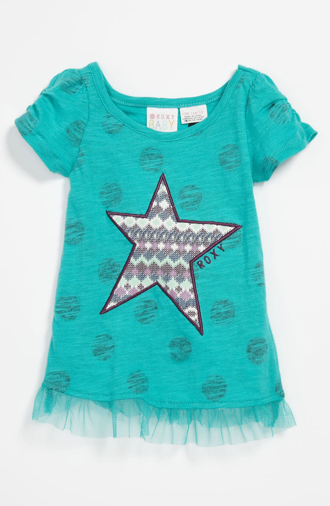 Main Image - Star Appliqué Top (Toddler)