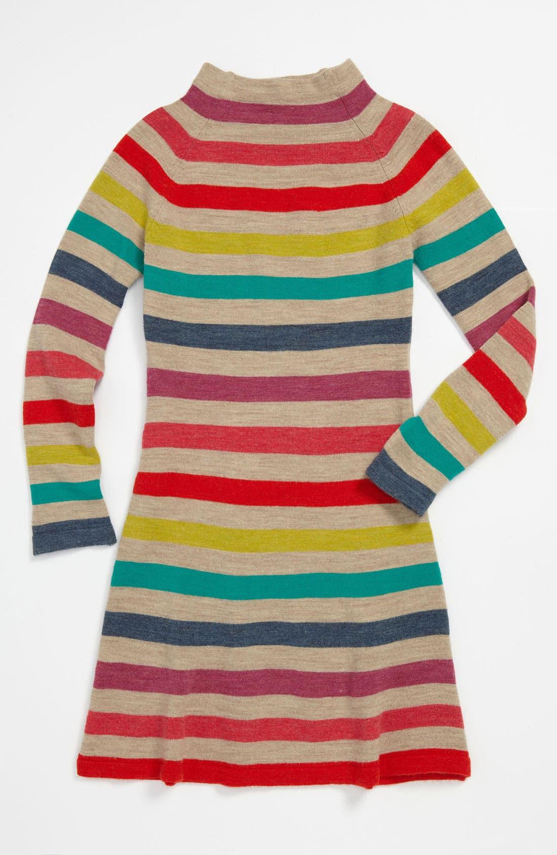 Main Image - United Colors of Benetton Kids Stripe Sweater Dress (Little Girls & Big Girls)