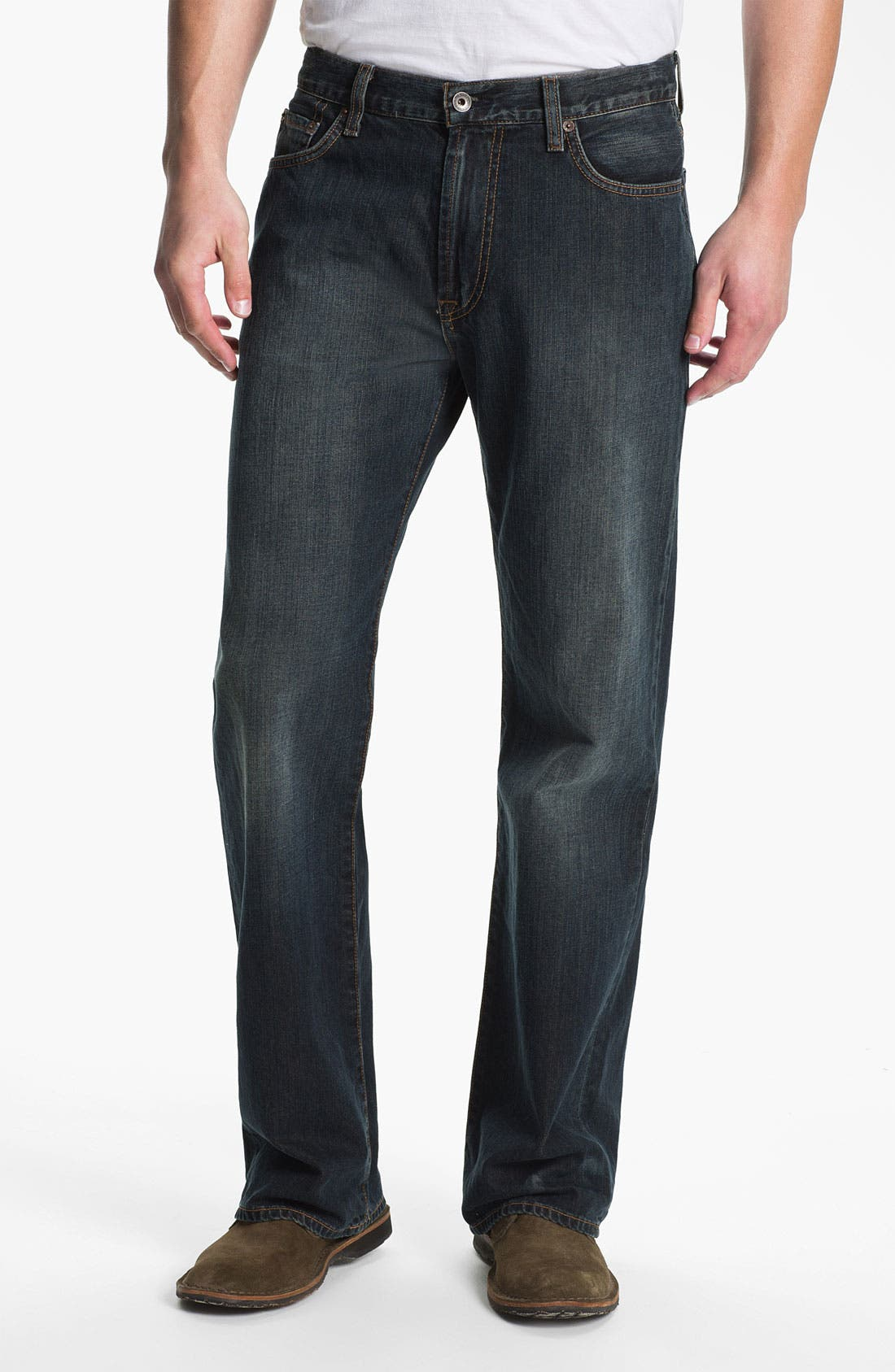 Alternate Image 1 Selected - Lucky Brand '181' Relaxed Straight Leg Jeans (Love train)
