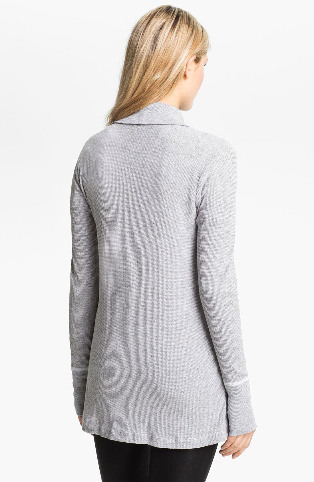 Alternate Image 2  - Three Dots Open Front Thermal Cardigan