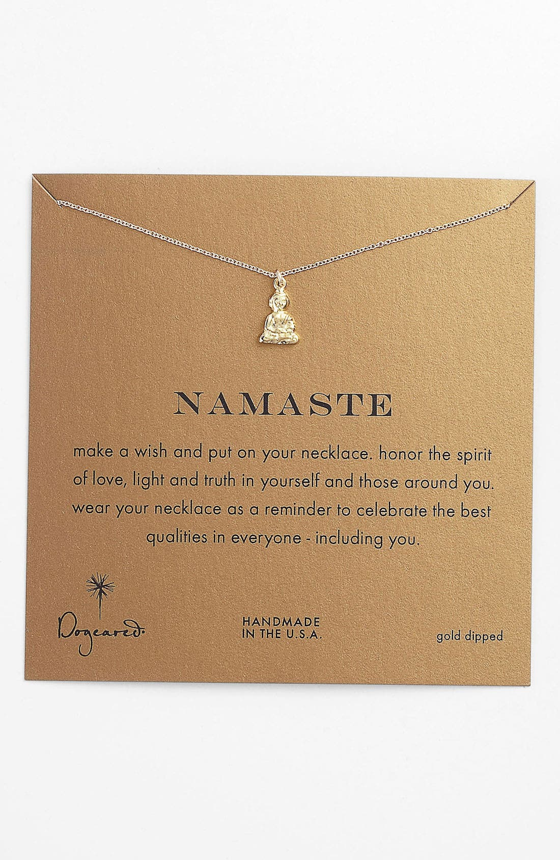 Alternate Image 1 Selected - Dogeared 'Namaste Buddha' Pendant Necklace (Nordstrom Exclusive)