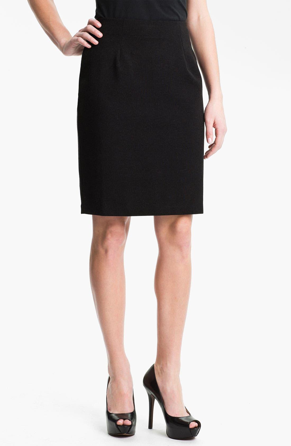 Main Image - Eileen Fisher Ponte Skirt (Petite)