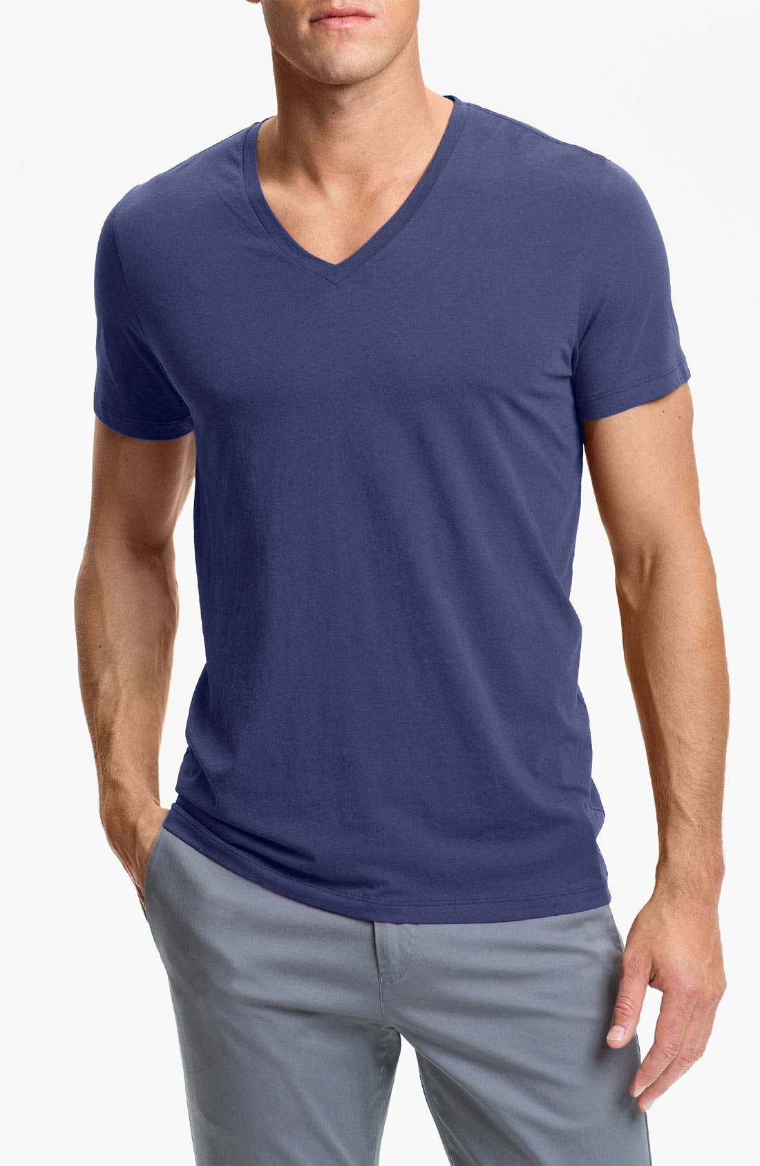 Alternate Image 1 Selected - Theory 'Bedros' V-Neck T-Shirt