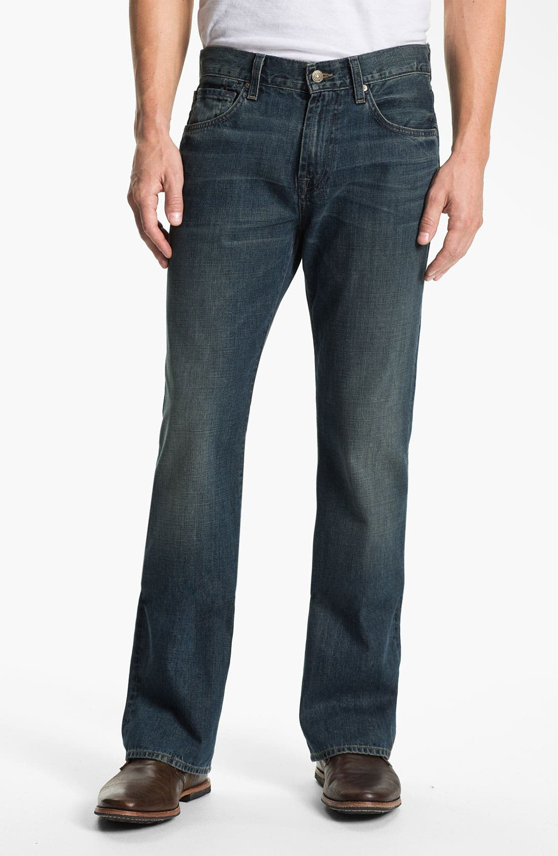 Alternate Image 2  - 7 For All Mankind® 'Brett' Bootcut Jeans (Baring Bay) (Online Exclusive)