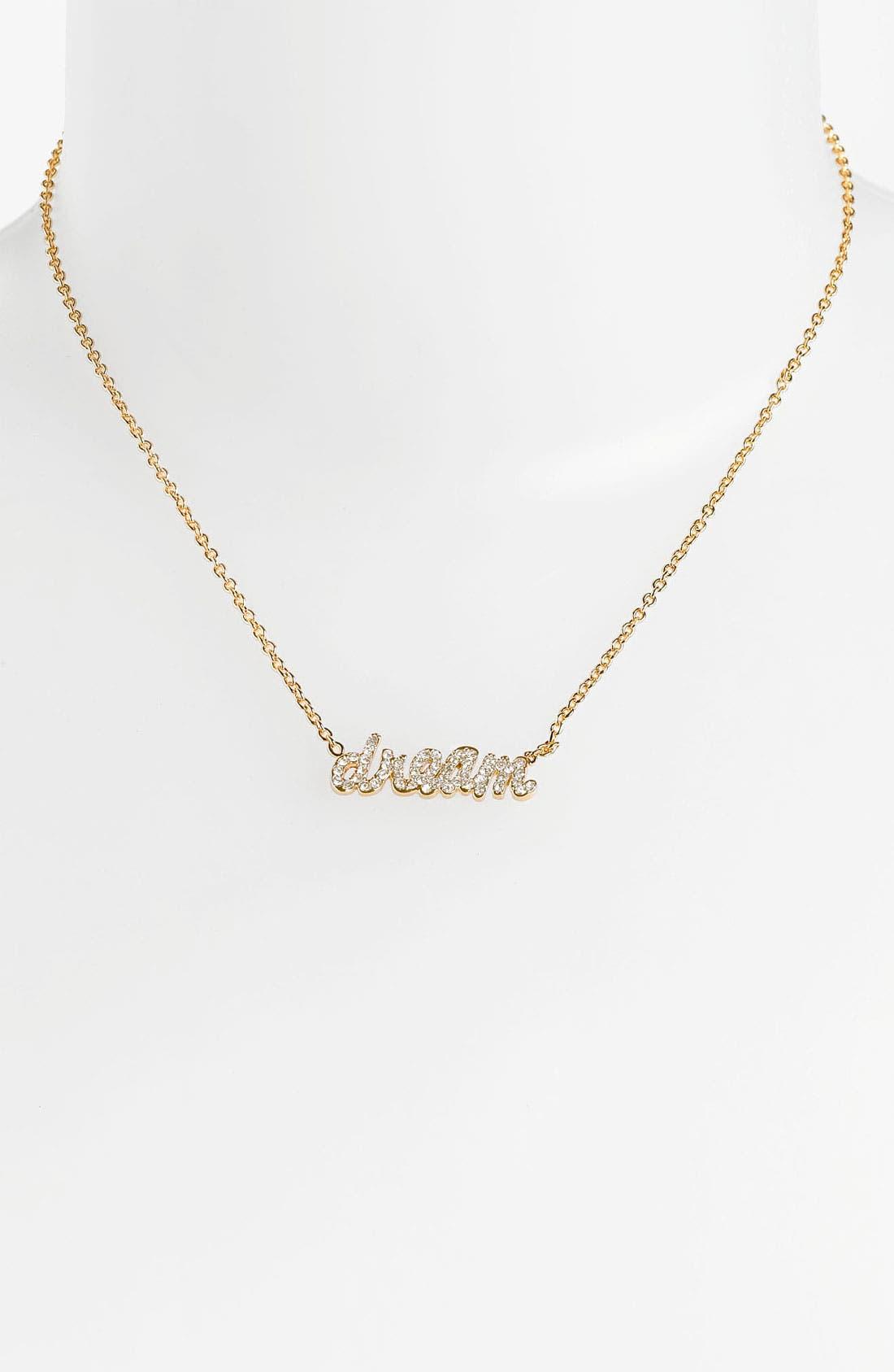 Main Image - Ariella Collection 'Messages - Dream' Script Pendant Necklace