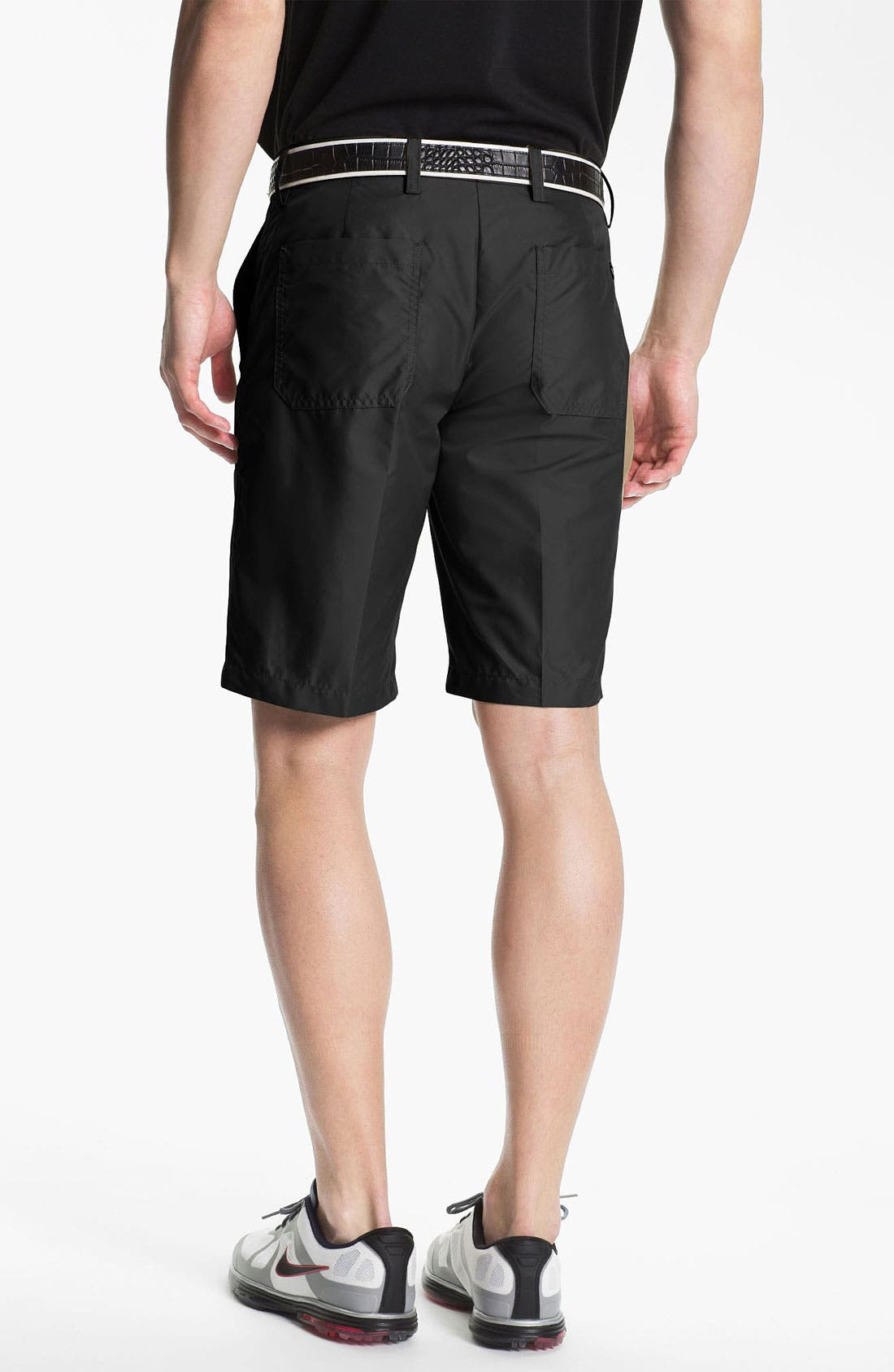 Alternate Image 2  - J. Lindeberg 'True' Flat Front Micro Twill Shorts (Online Only)
