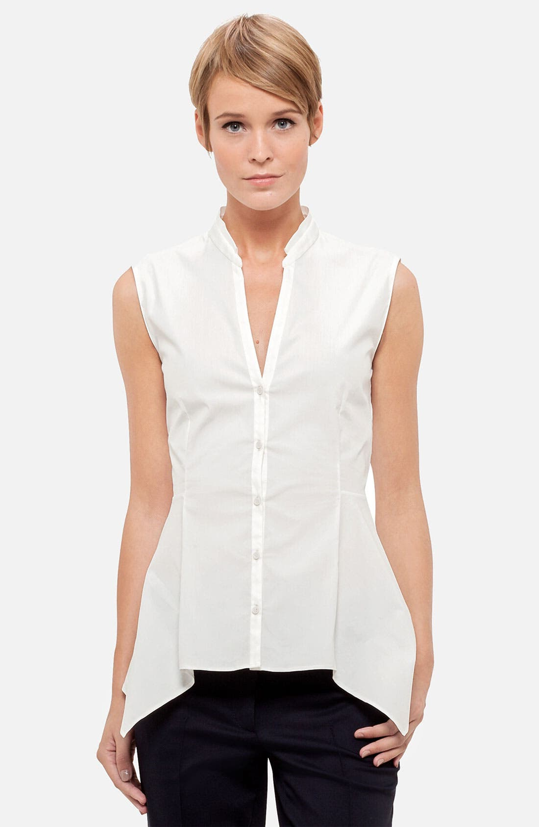 Main Image - Akris punto Sleeveless Peplum Blouse