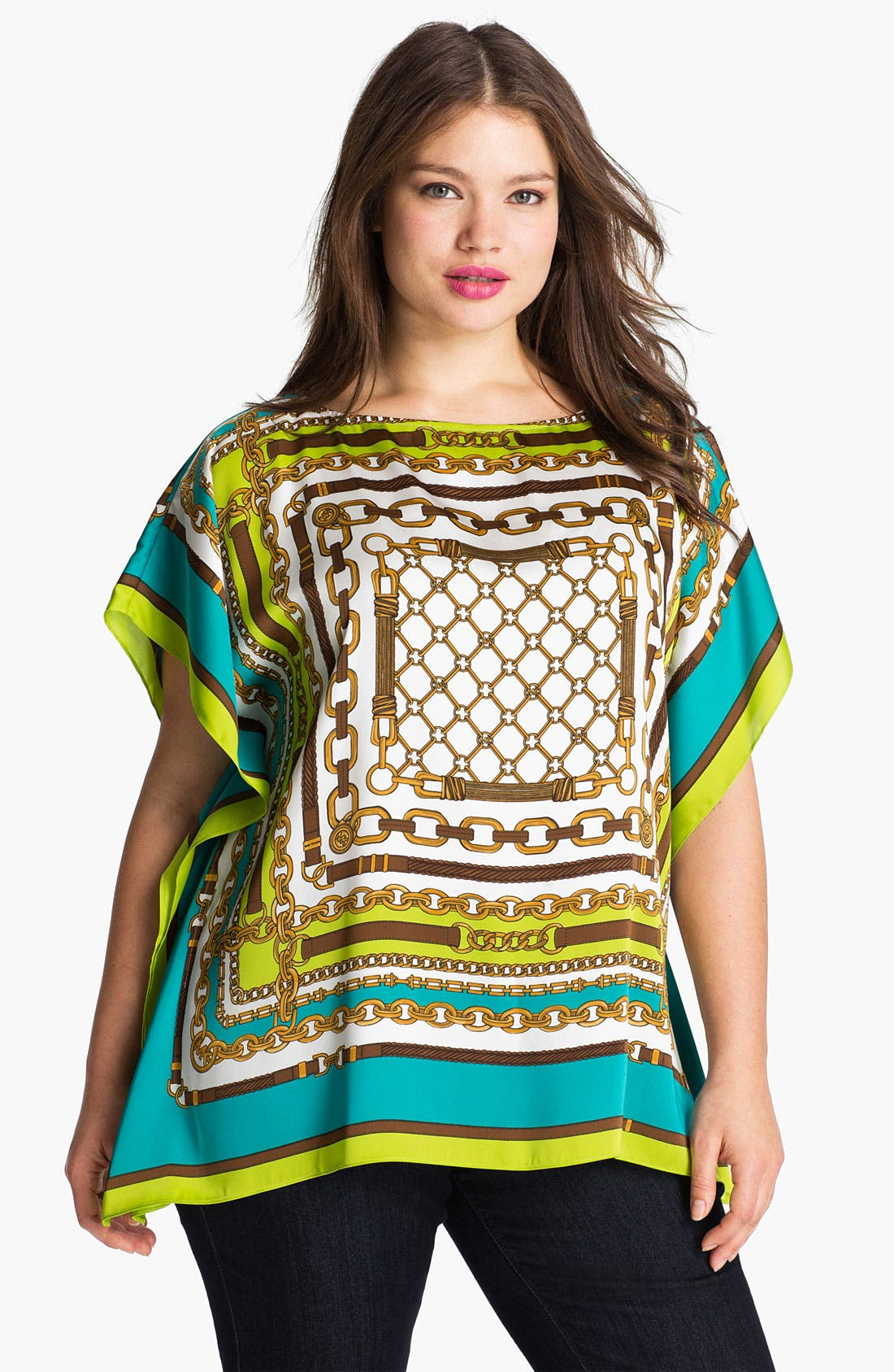 Alternate Image 1 Selected - MICHAEL Michael Kors Chain Print Tunic (Plus)