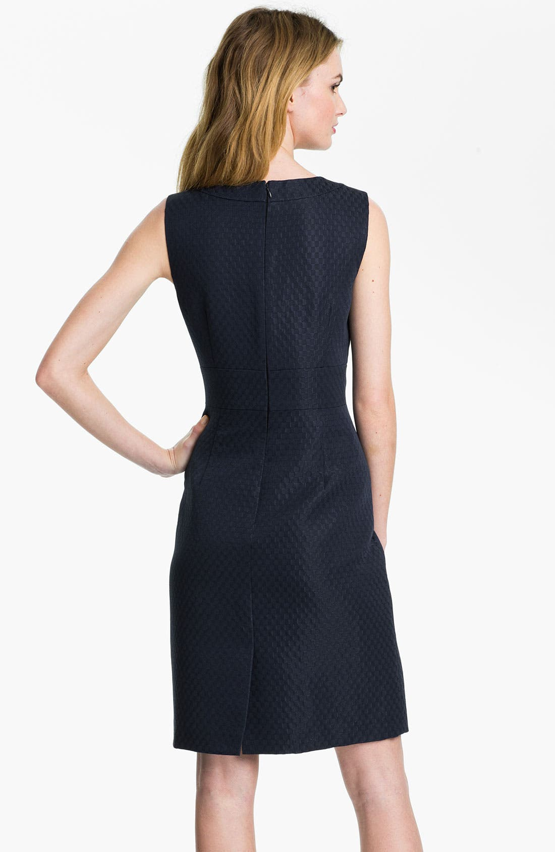 Alternate Image 2  - Tahari Cutout Detail Jacquard Sheath Dress