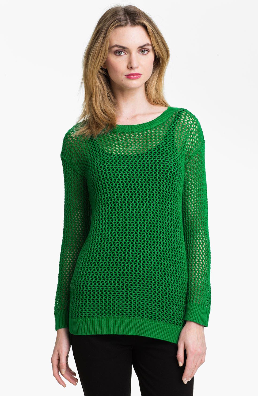 Alternate Image 1 Selected - MICHAEL Michael Kors Mesh Tunic Sweater