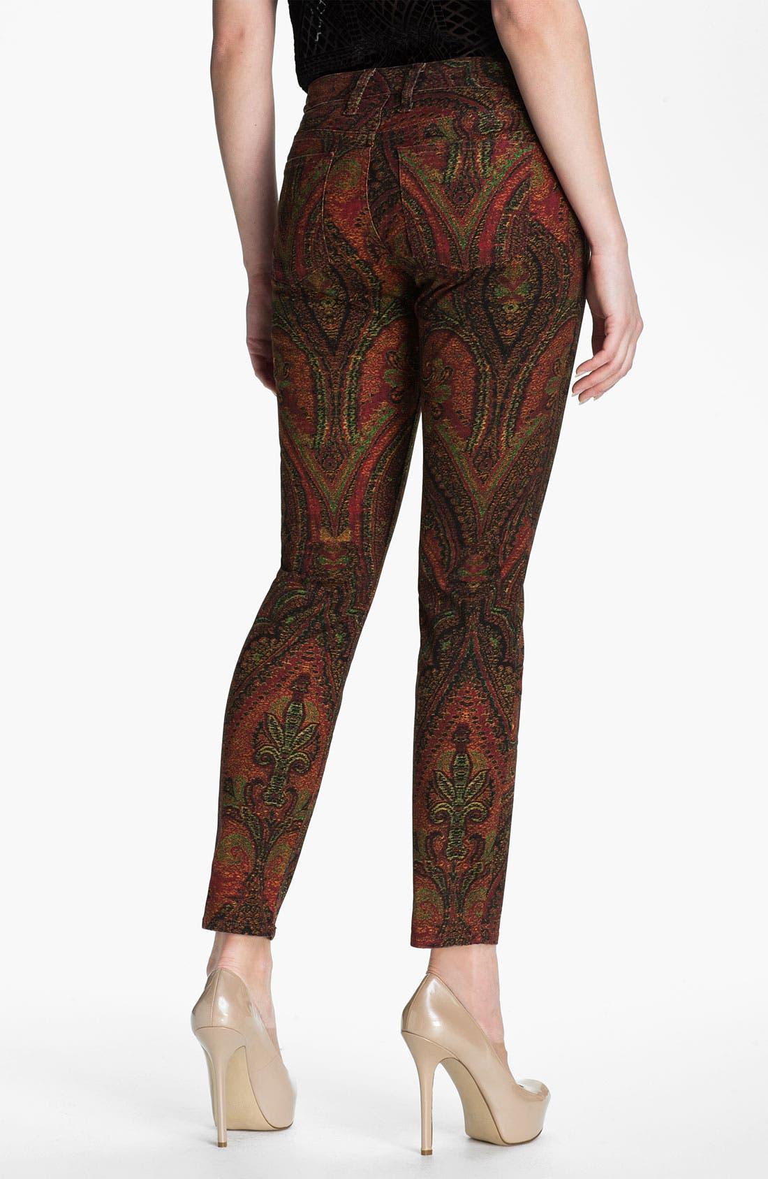 Alternate Image 2  - Lucky Brand 'Sofia' Print Skinny Jeans