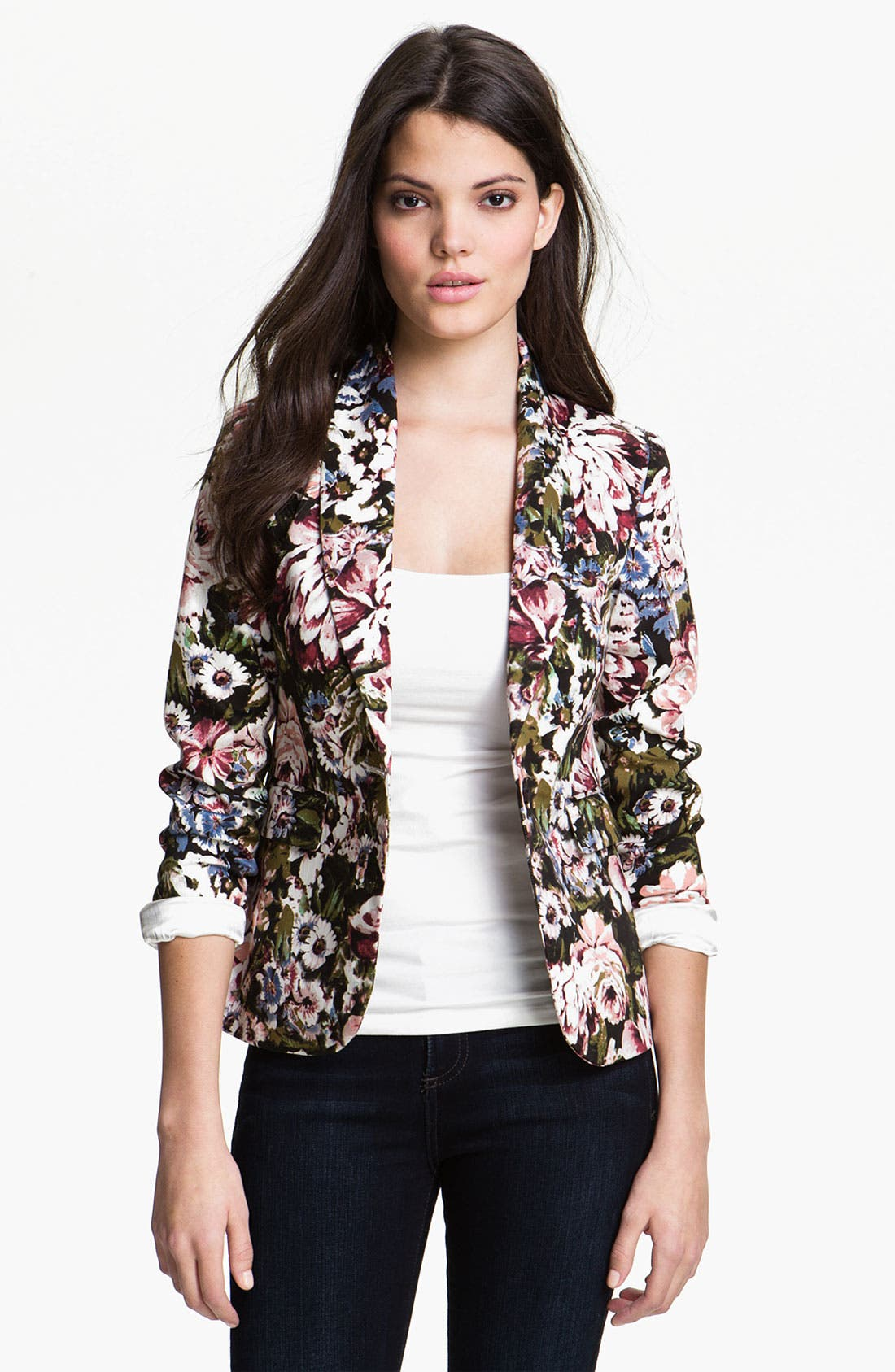 Alternate Image 1 Selected - Eight Sixty Floral Print Jacket