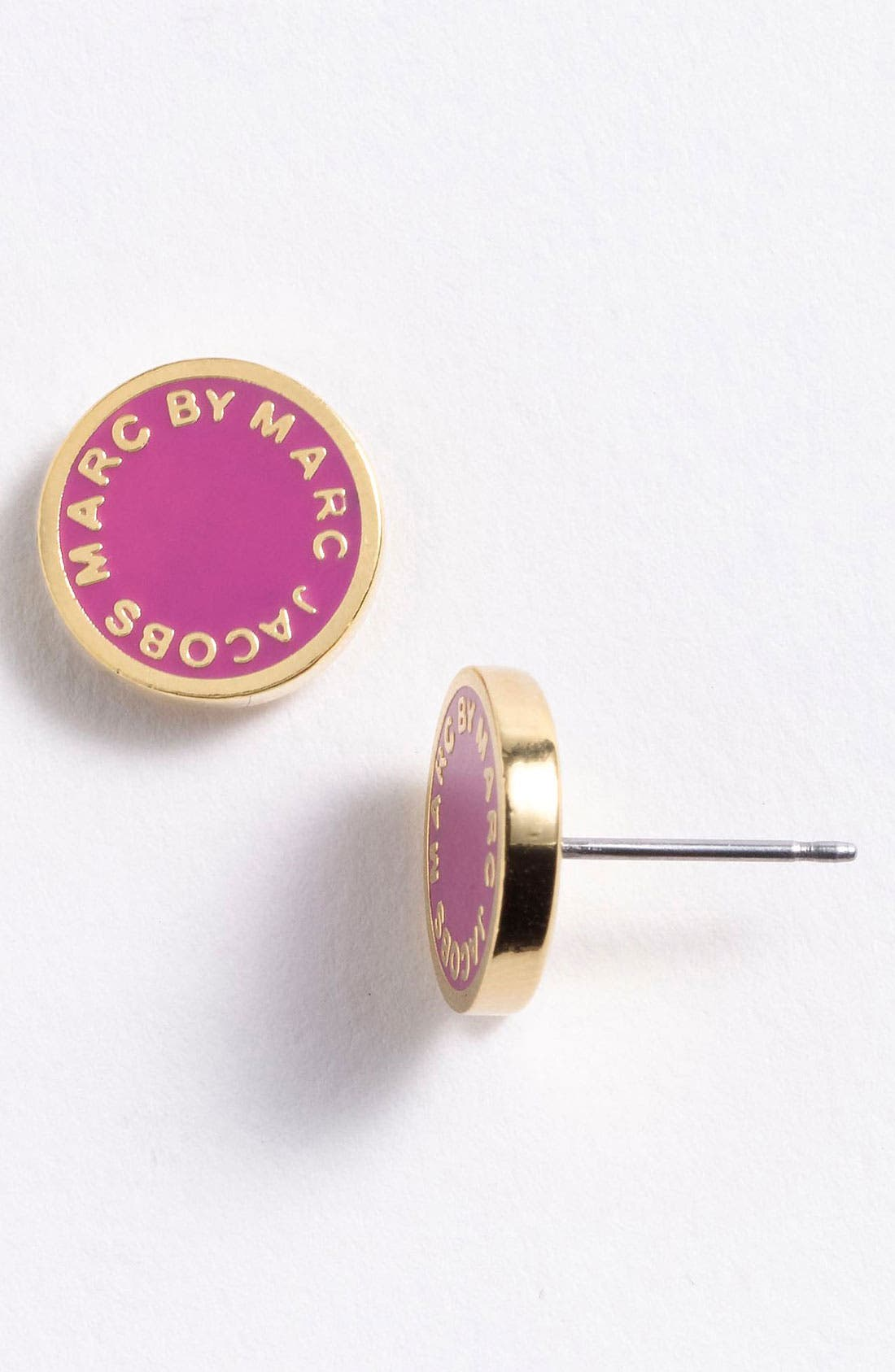 Main Image - MARC BY MARC JACOBS 'Classic Marc' Boxed Logo Stud Earrings