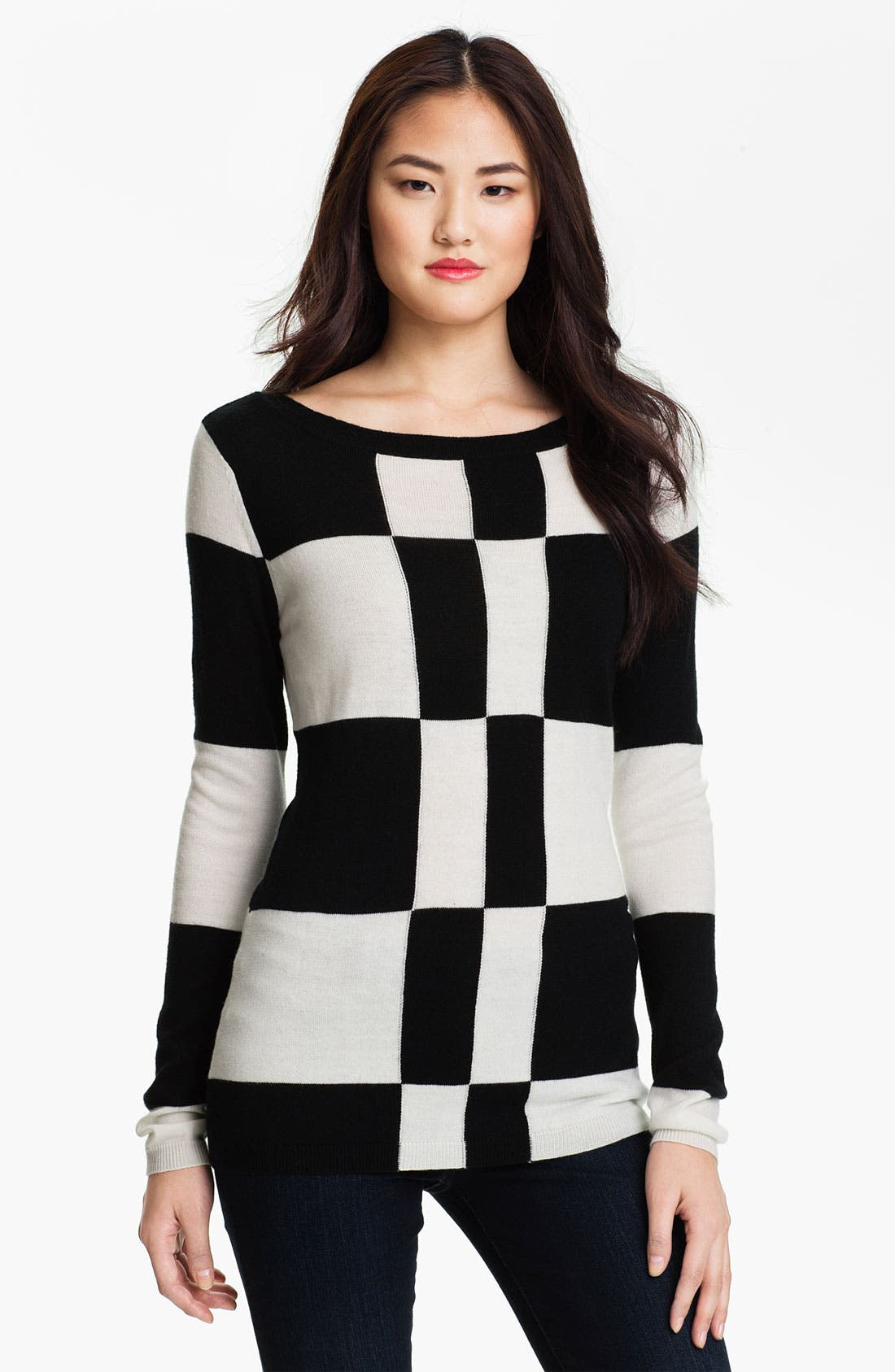 Alternate Image 1 Selected - Vince Camuto Check Pattern Sweater