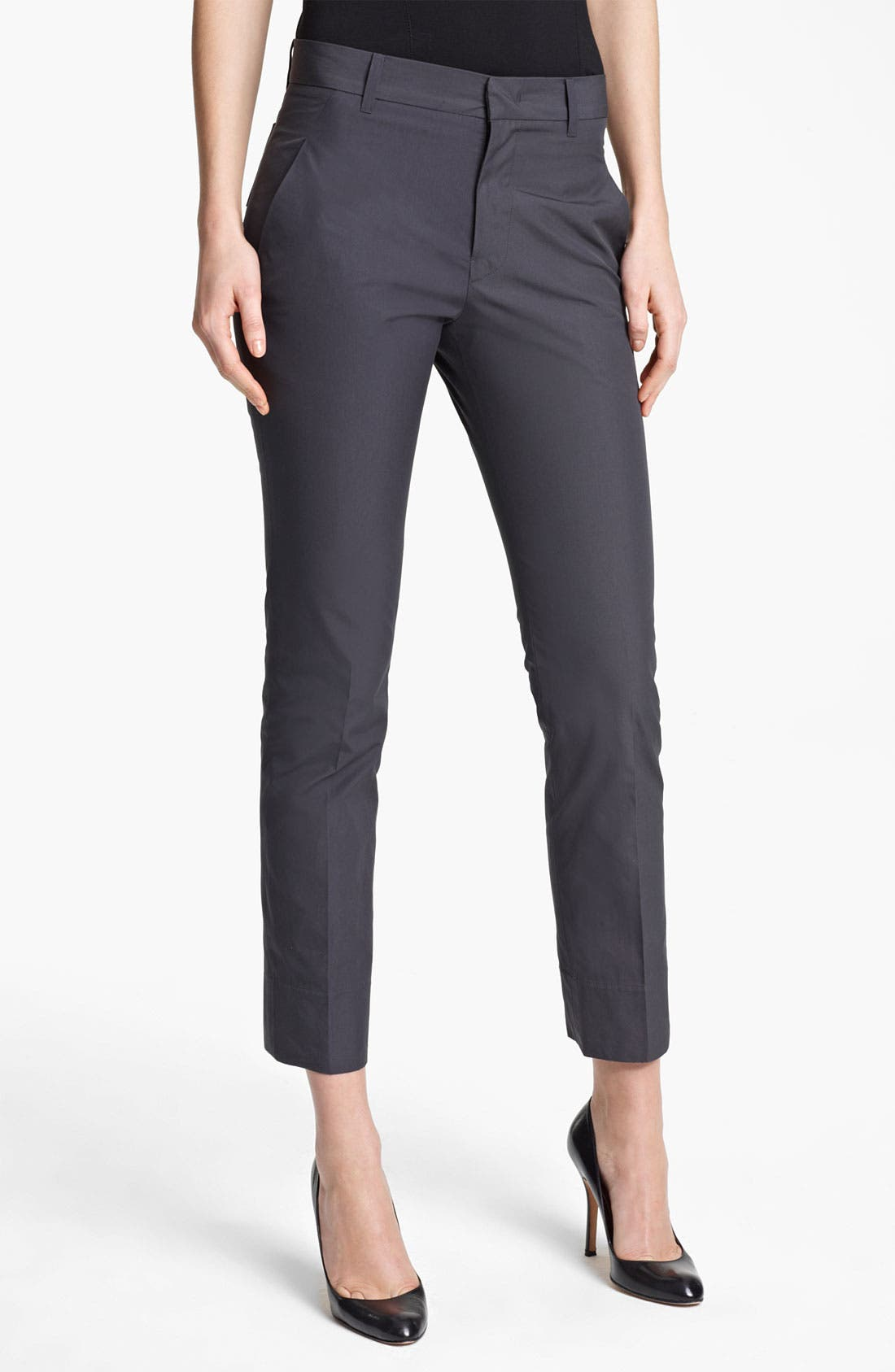 Main Image - Jil Sander 'Niccolo' Slim Leg Cotton Taffeta Ankle Pants