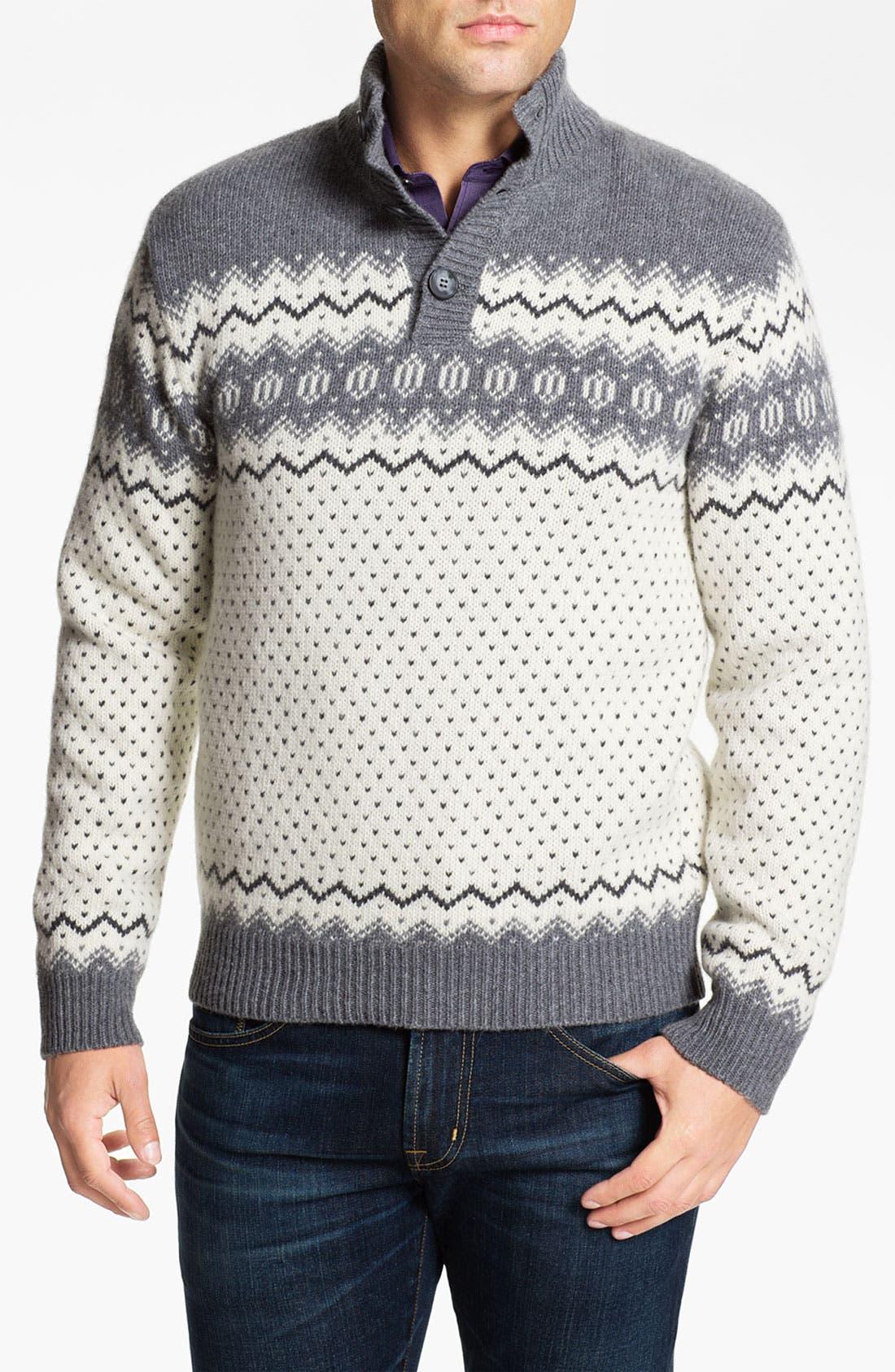 Alternate Image 1 Selected - Fiesole Mock Neck Wool Blend Sweater