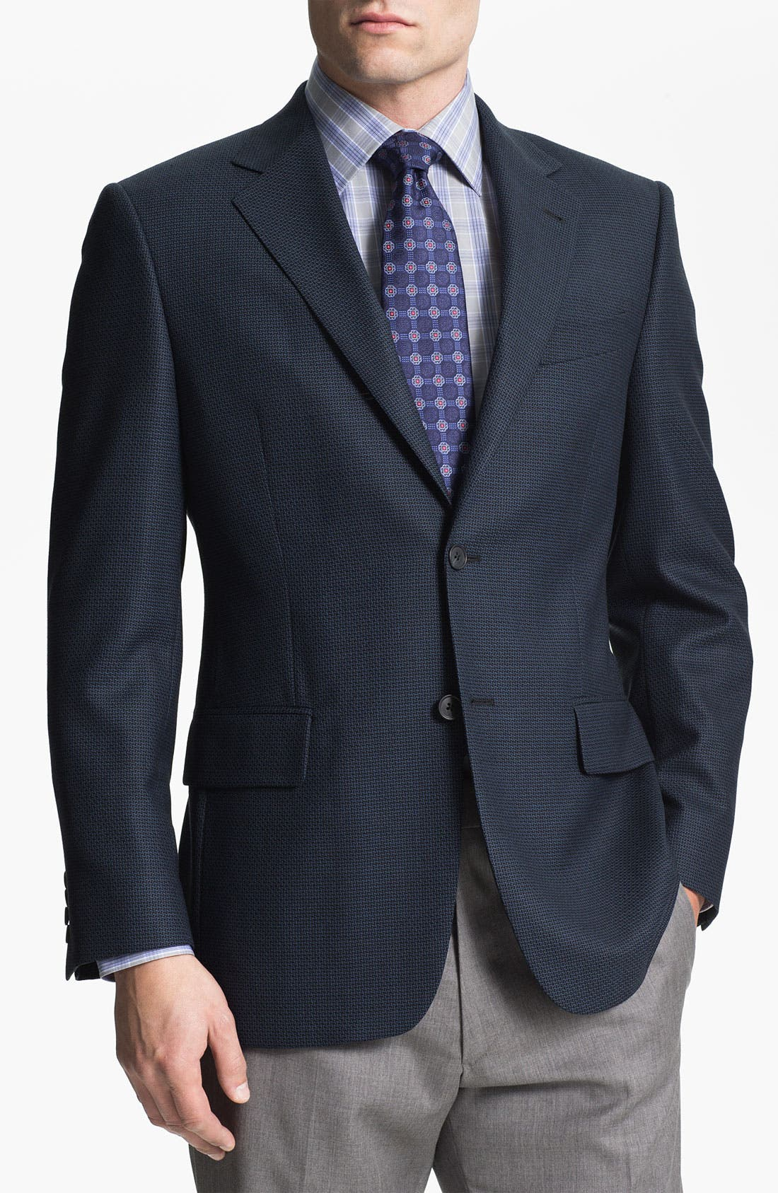 Main Image - Joseph Abboud 'Signature Silver' Wool Sportcoat