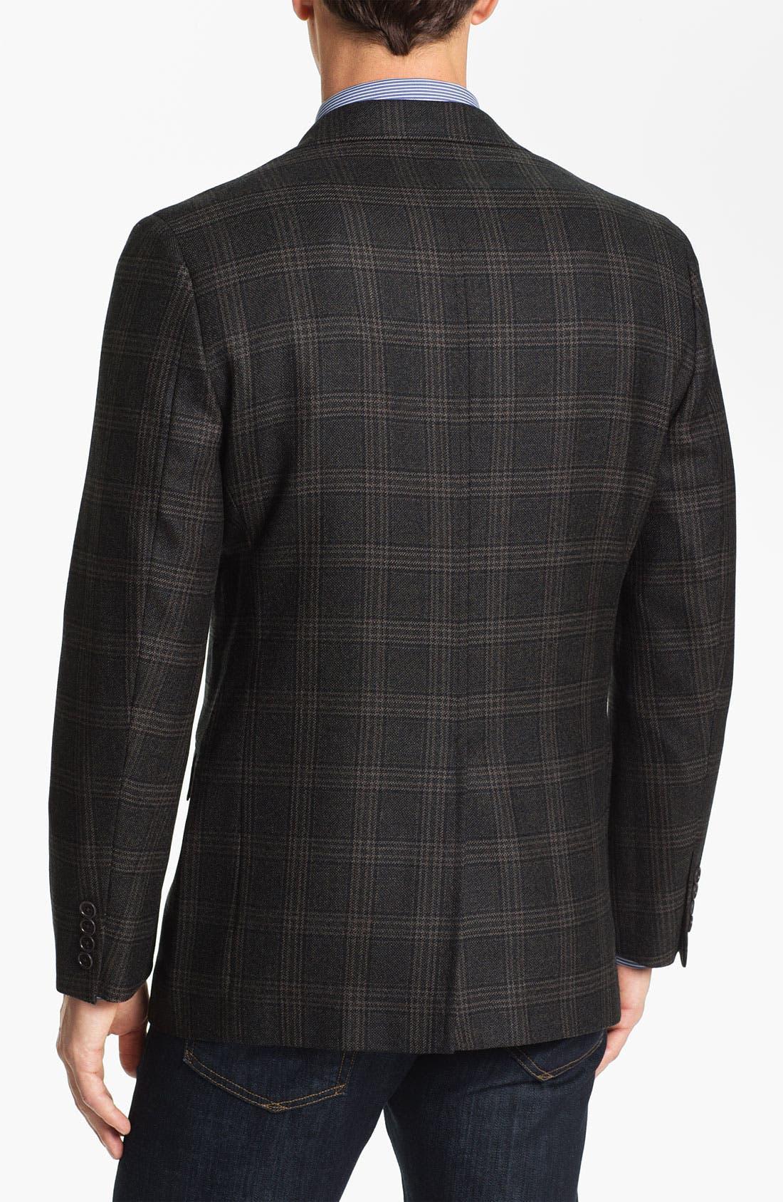 Alternate Image 2  - Brooks Brothers Plaid Sportcoat