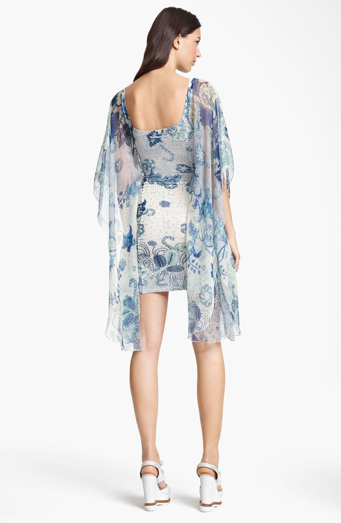 Alternate Image 2  - Jean Paul Gaultier Fuzzi Abstract Print Batwing Sleeve Dress