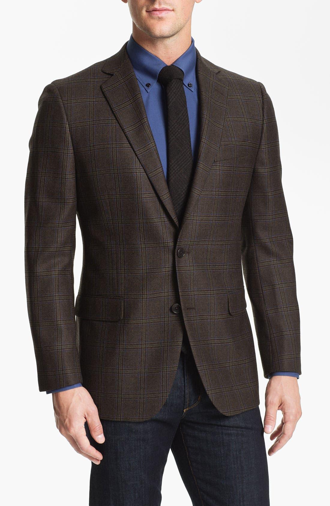 Alternate Image 1 Selected - Brooks Brothers Plaid Sportcoat