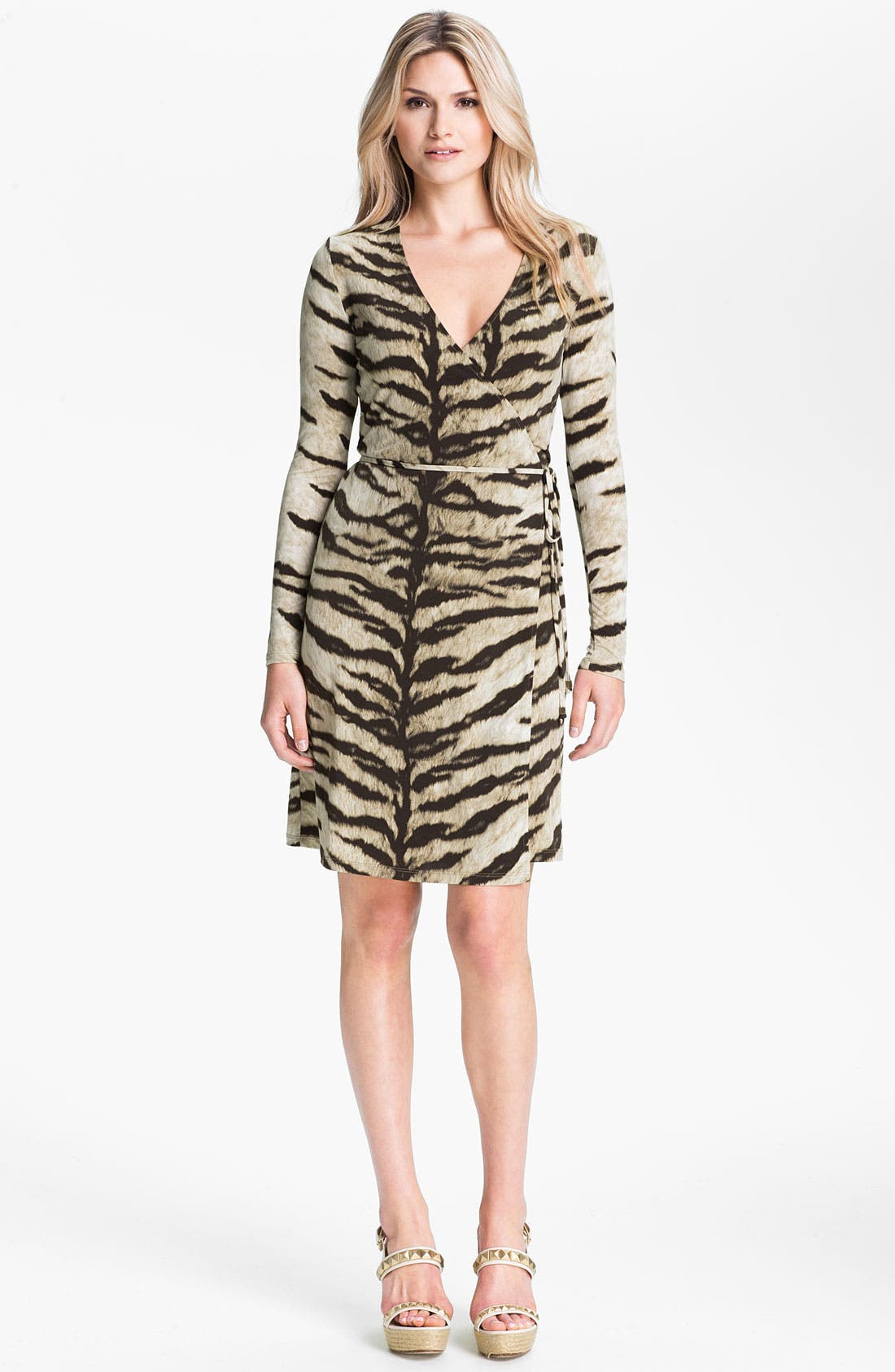 Alternate Image 1 Selected - MICHAEL Michael Kors Tiger Print Wrap Dress