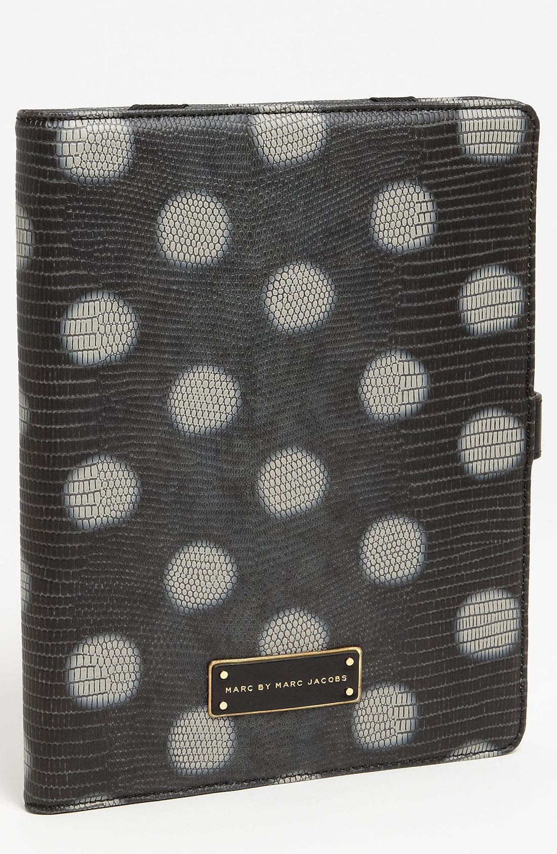 Alternate Image 1 Selected - MARC BY MARC JACOBS 'Take Me - Lizzie Dots' Embossed iPad Case
