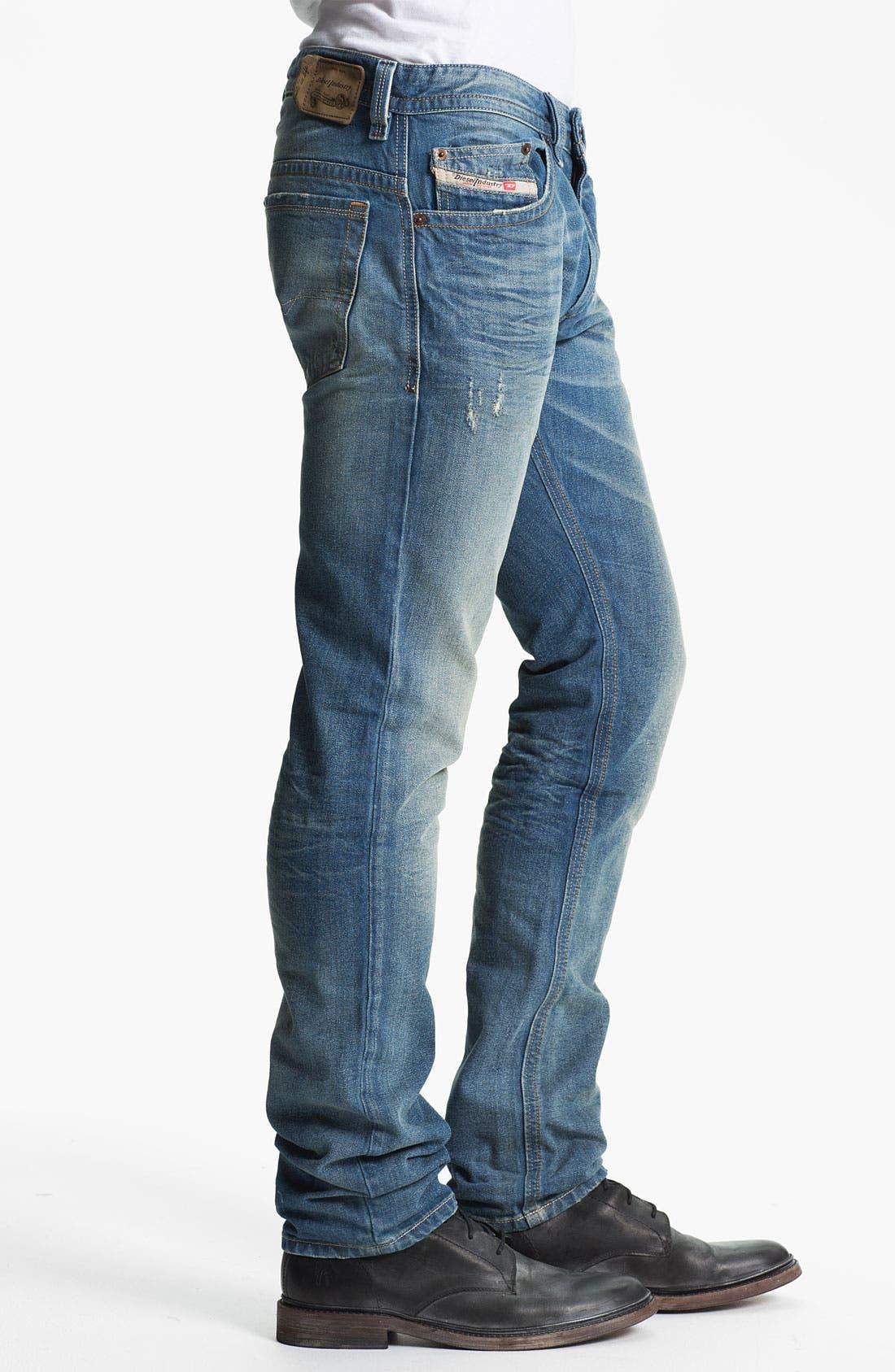 Alternate Image 3  - DIESEL® 'Thavar' Slim Straight Leg Jeans (0806P)