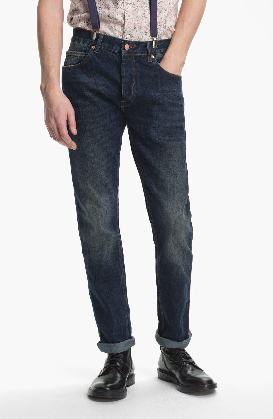 Alternate Image 2  - Topman Slim Fit Jeans (Indigo)