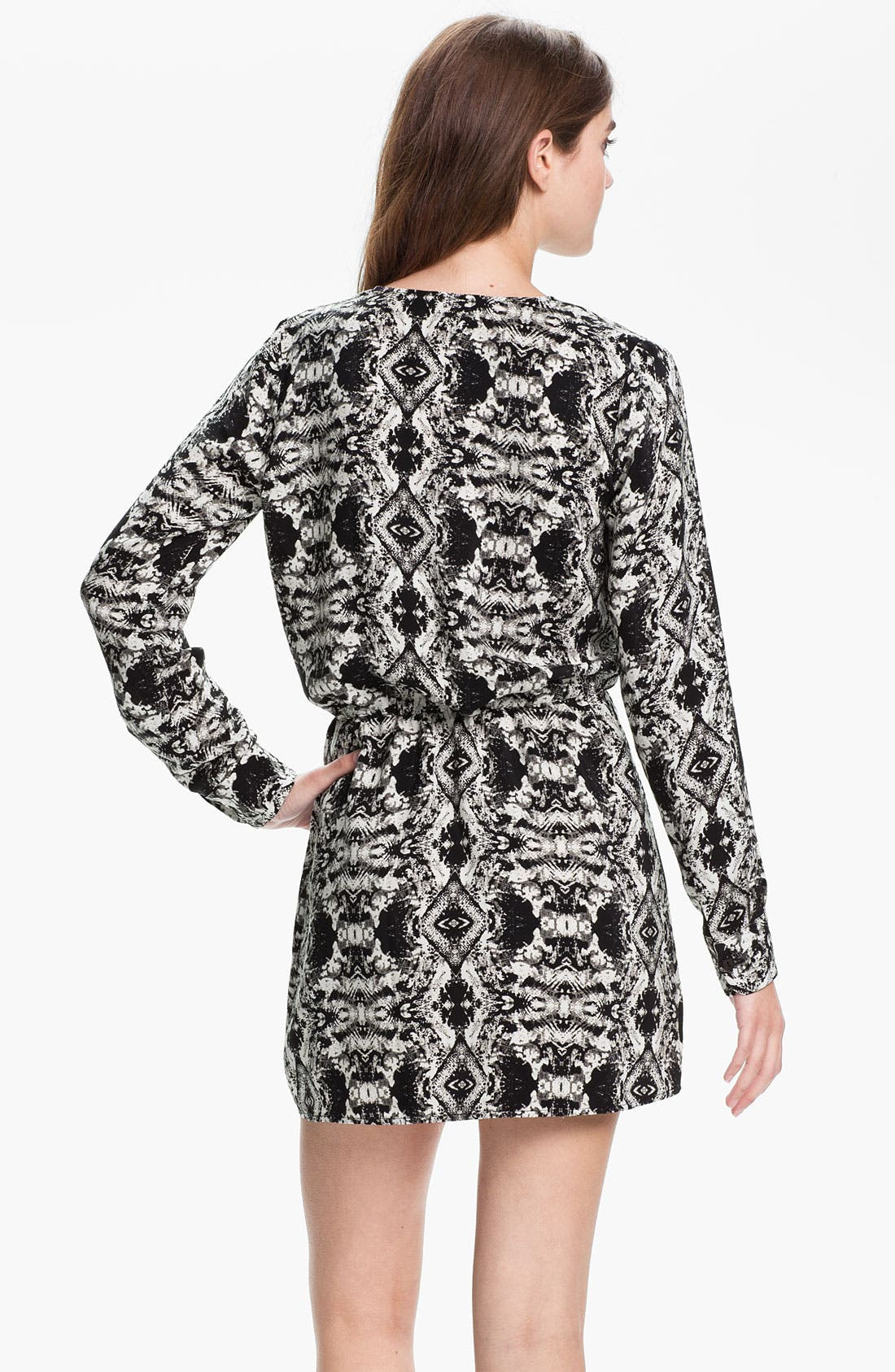Alternate Image 2  - Parker Faux Wrap Print Silk Dress
