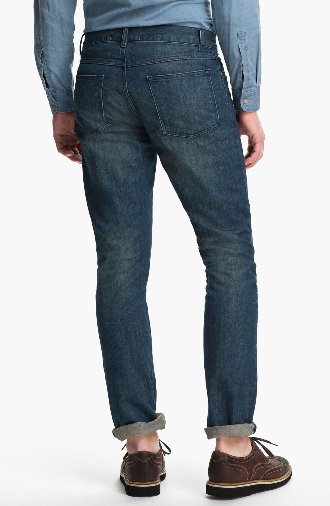 Alternate Image 2  - Topman 'Isaac' Vintage Slim Fit Jeans (Mid Blue)
