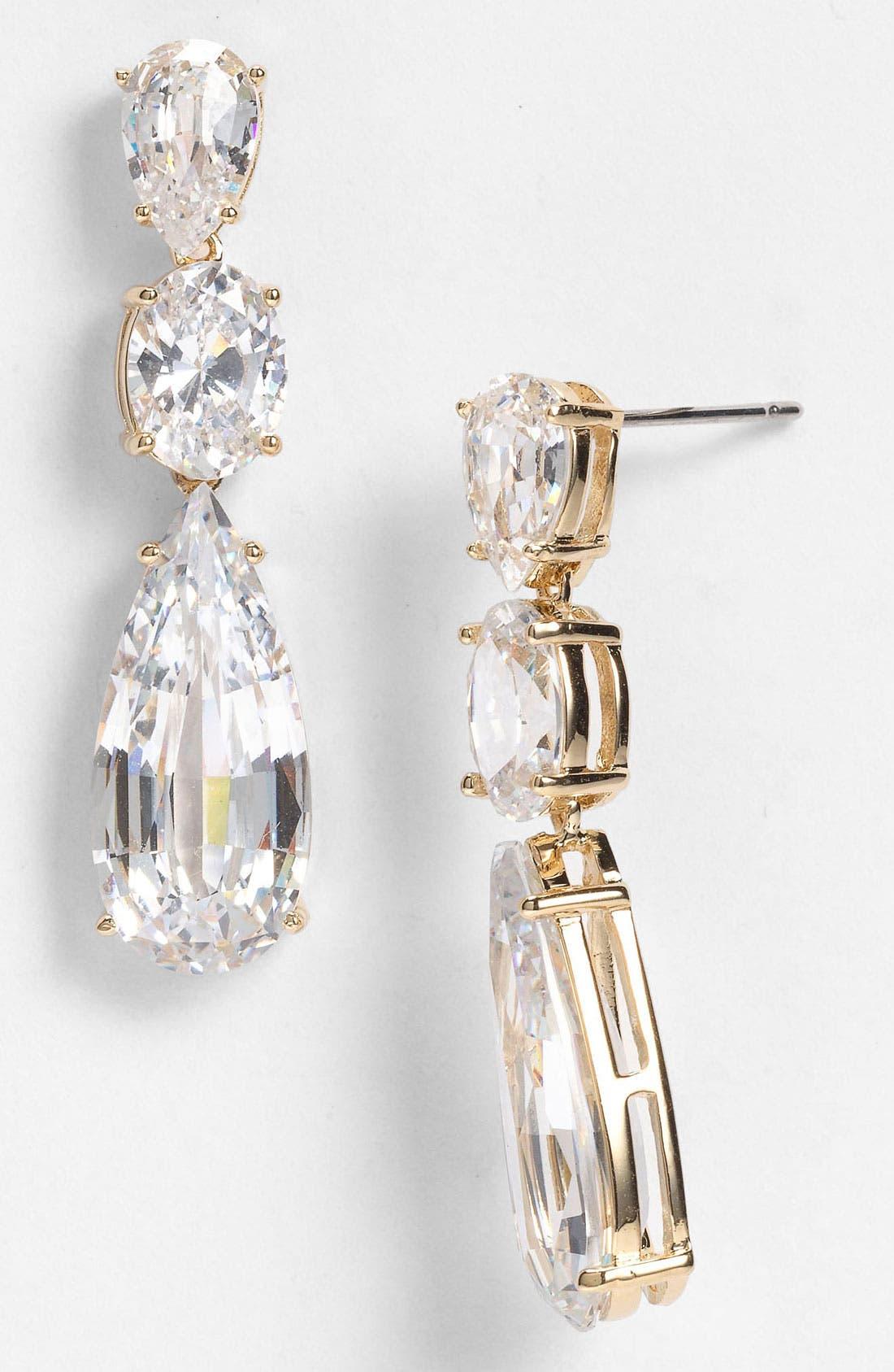 Alternate Image 1 Selected - Nadri Cubic Zirconia Linear Earrings (Nordstrom Exclusive)