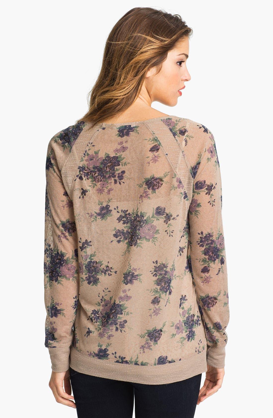 Alternate Image 2  - Olivia Moon Floral Print Pullover