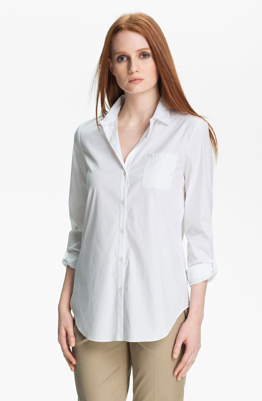 Main Image - Lafayette 148 New York 'Excursion Stretch' Blouse