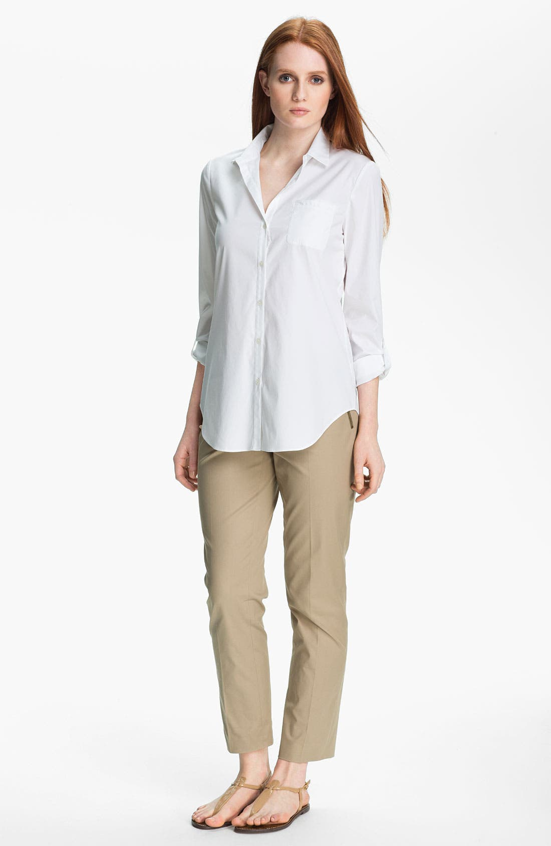 Alternate Image 3  - Lafayette 148 New York 'Excursion Stretch' Blouse